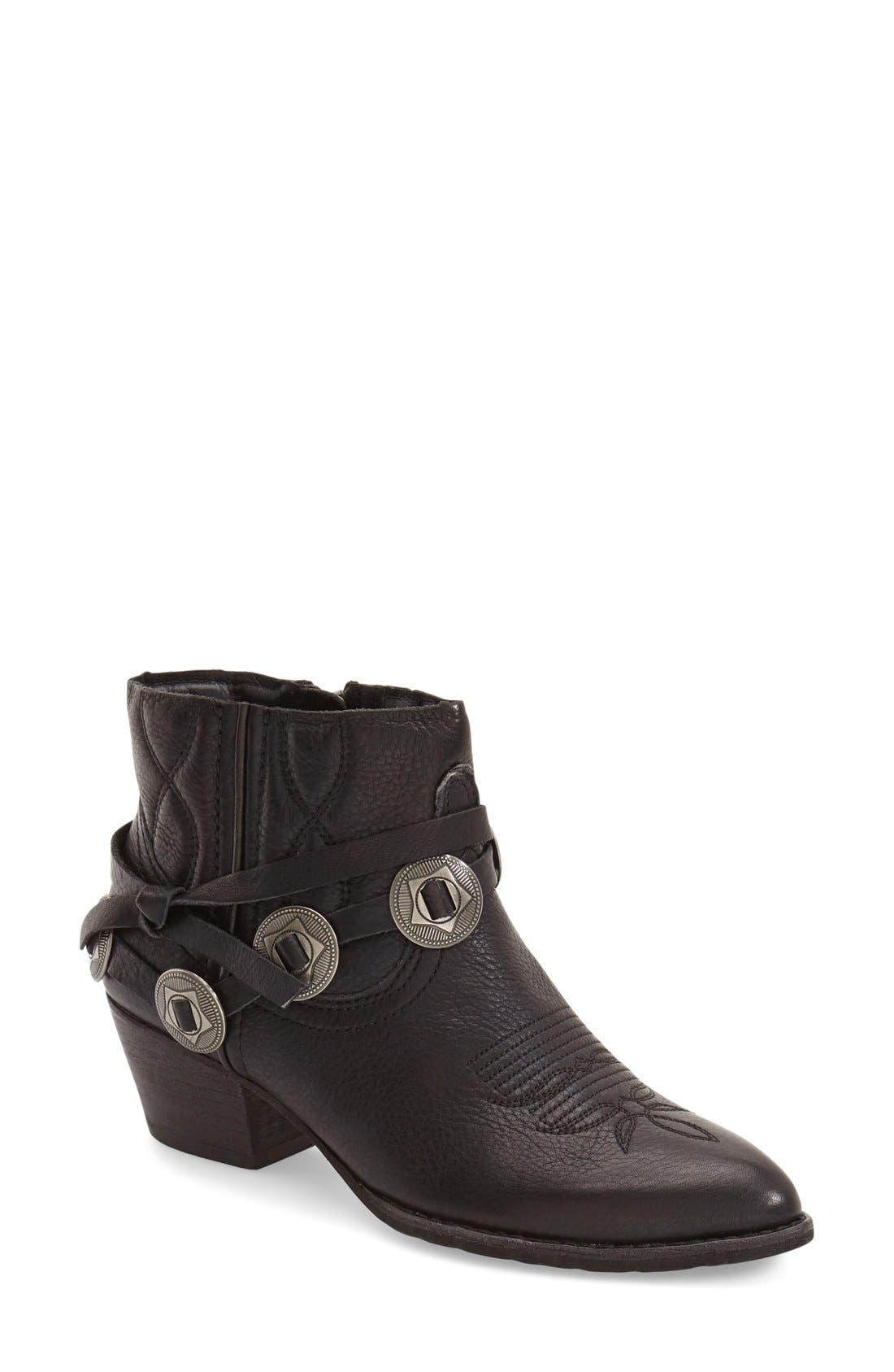 'Skye' Western Bootie,                             Main thumbnail 1, color,                             001