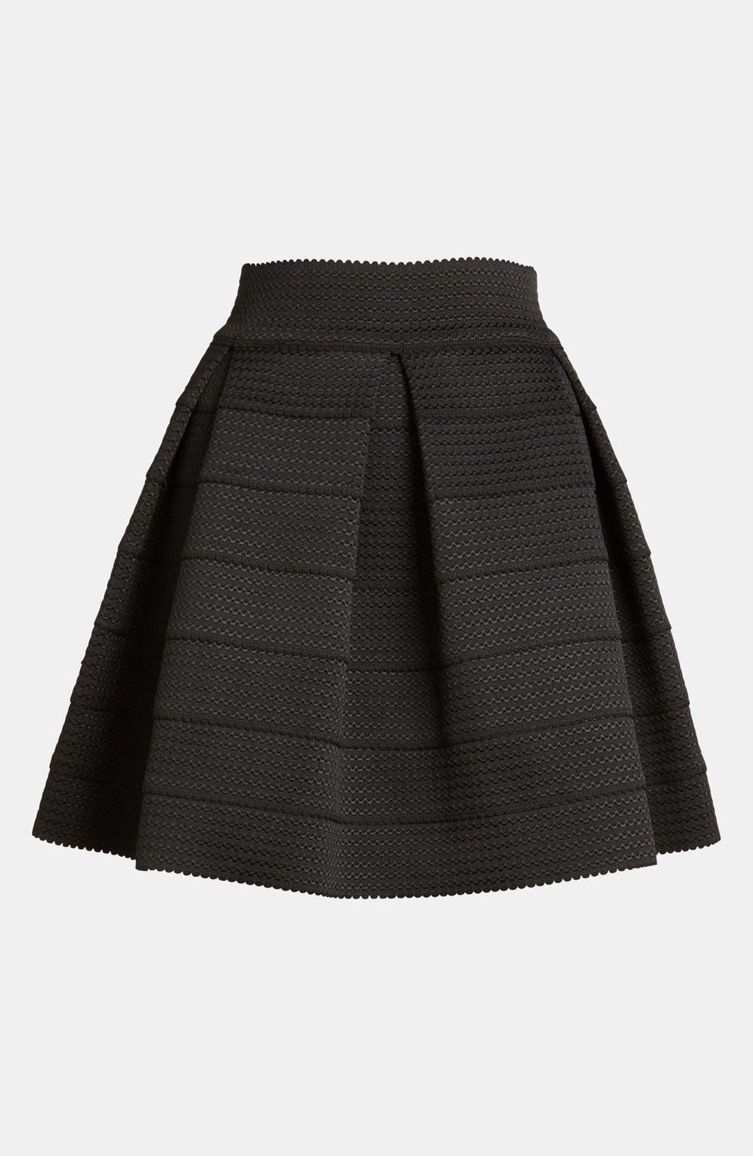 Pleated Skirt,                             Alternate thumbnail 2, color,                             001