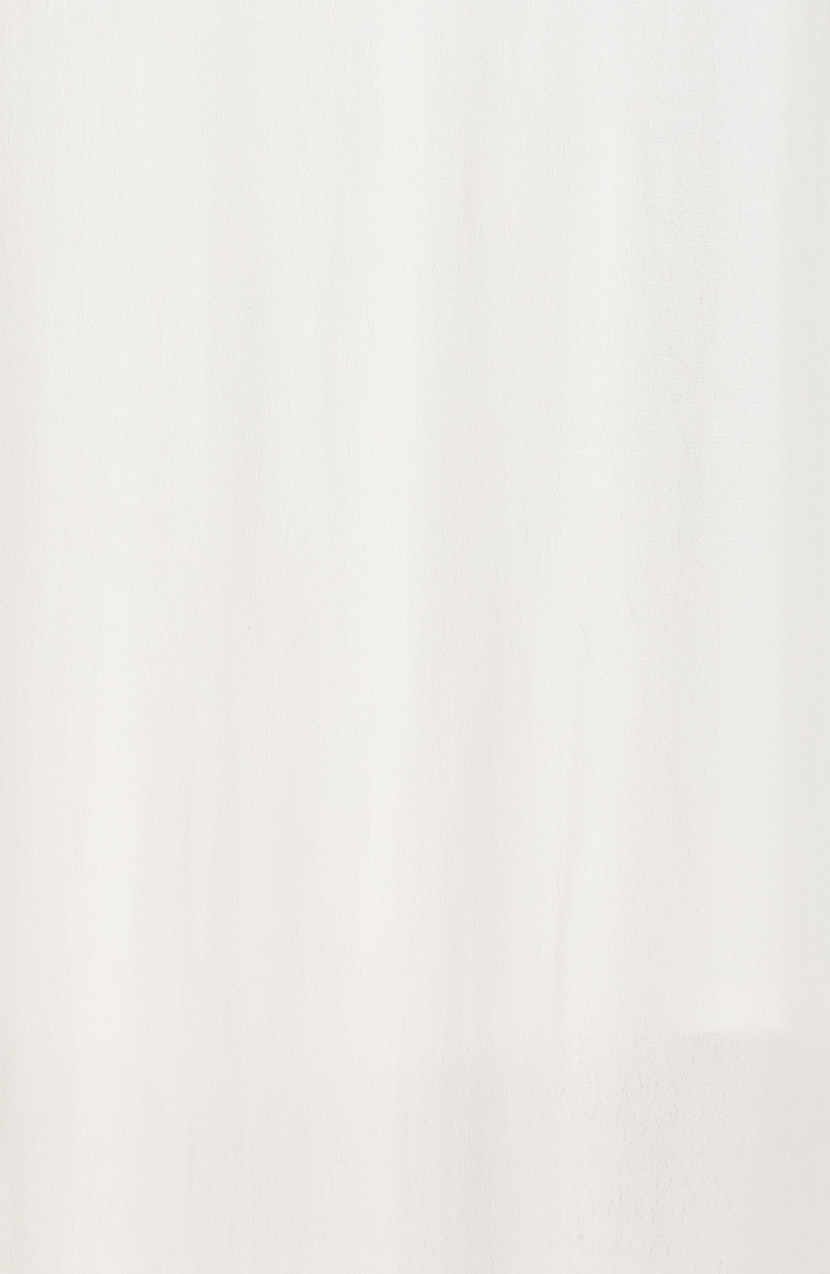 Ruffle Neck Maxi Dress,                             Alternate thumbnail 6, color,                             IVORY