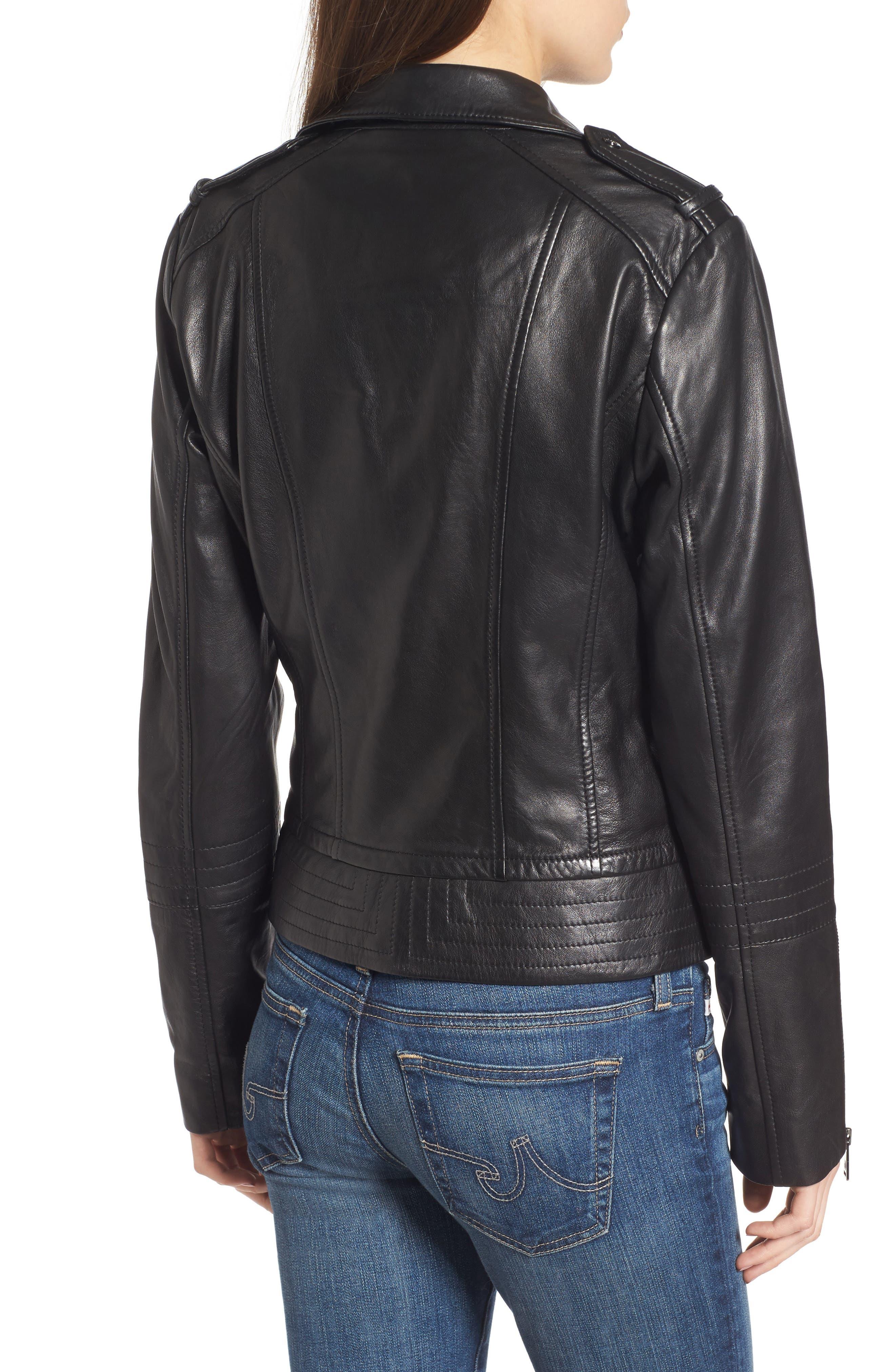 Lirio Moto Jacket,                             Alternate thumbnail 2, color,                             001