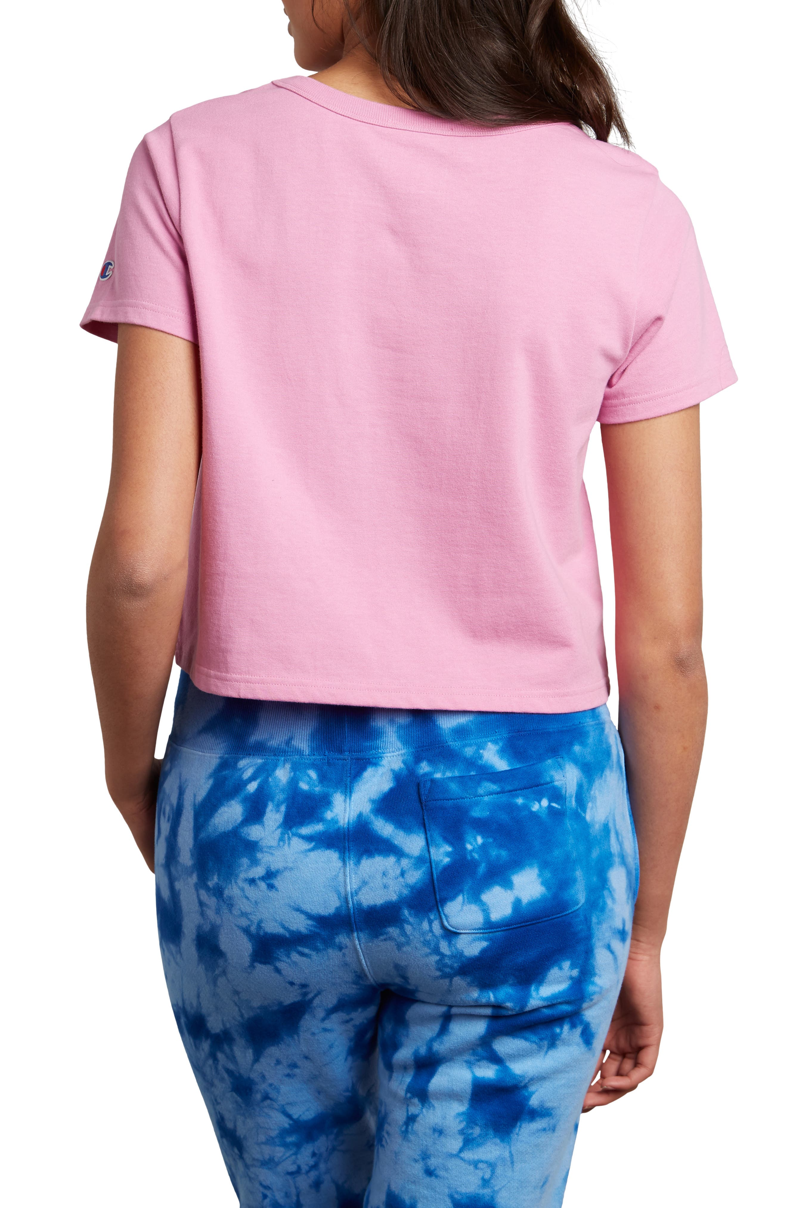 Crop Tee,                             Alternate thumbnail 2, color,                             PAPER ORCHID