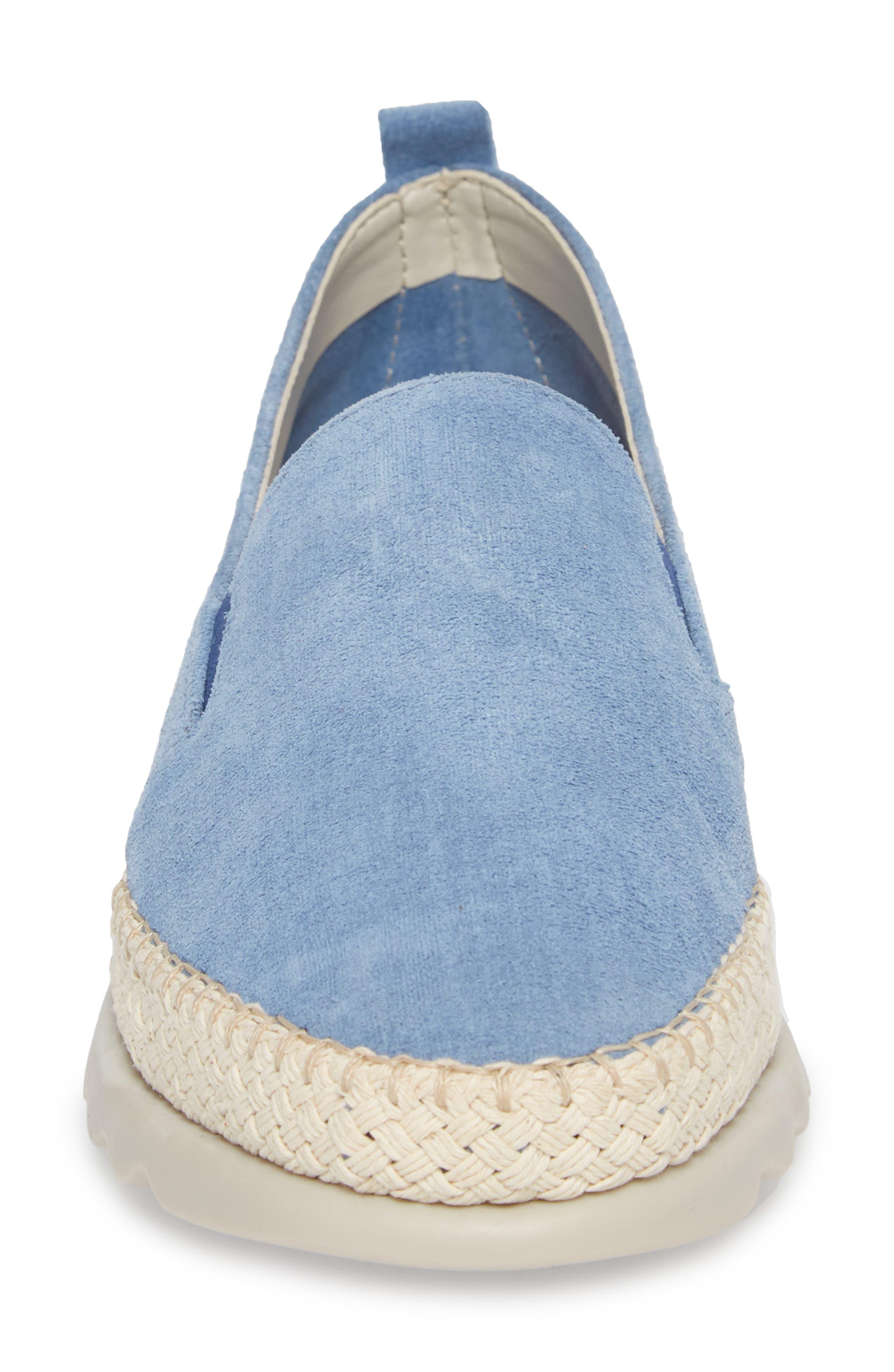 Chappie Slip-On Sneaker,                             Alternate thumbnail 4, color,                             DENIM PRINTED SUEDE