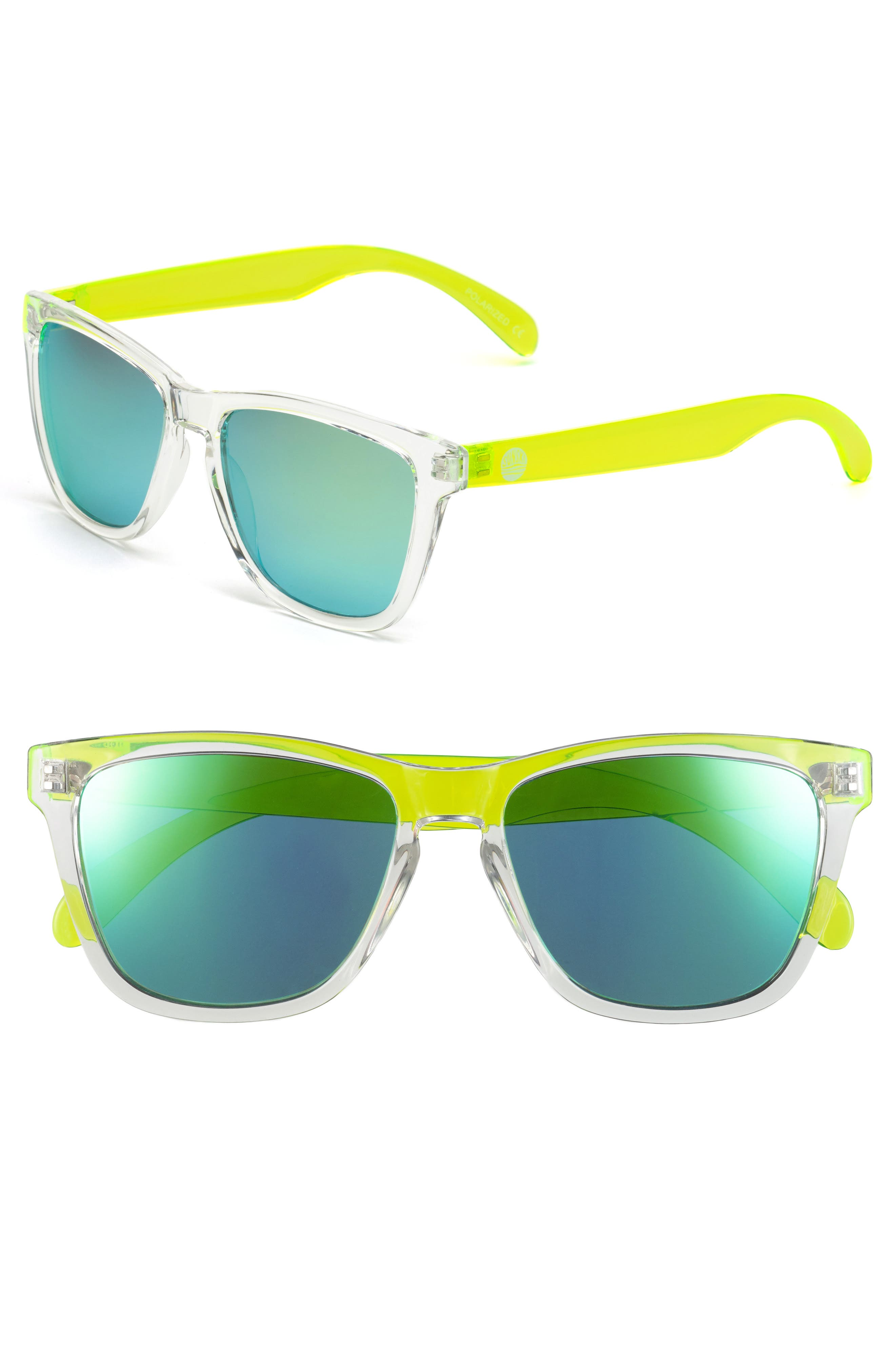 Original 53mm Polarized Sunglasses,                             Alternate thumbnail 2, color,                             CLEAR / LIME