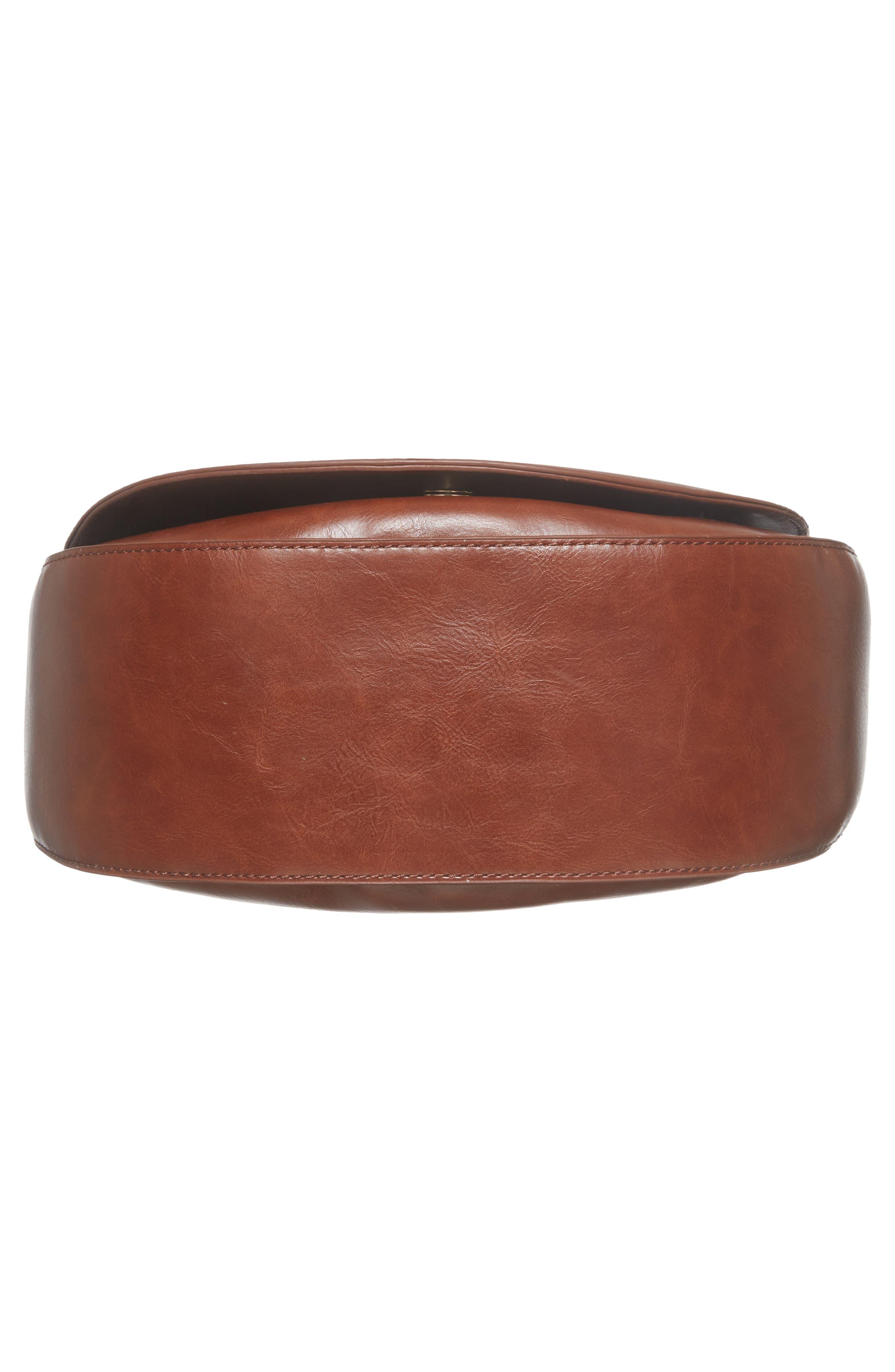 Piri Faux Leather Saddle Bag,                             Alternate thumbnail 18, color,