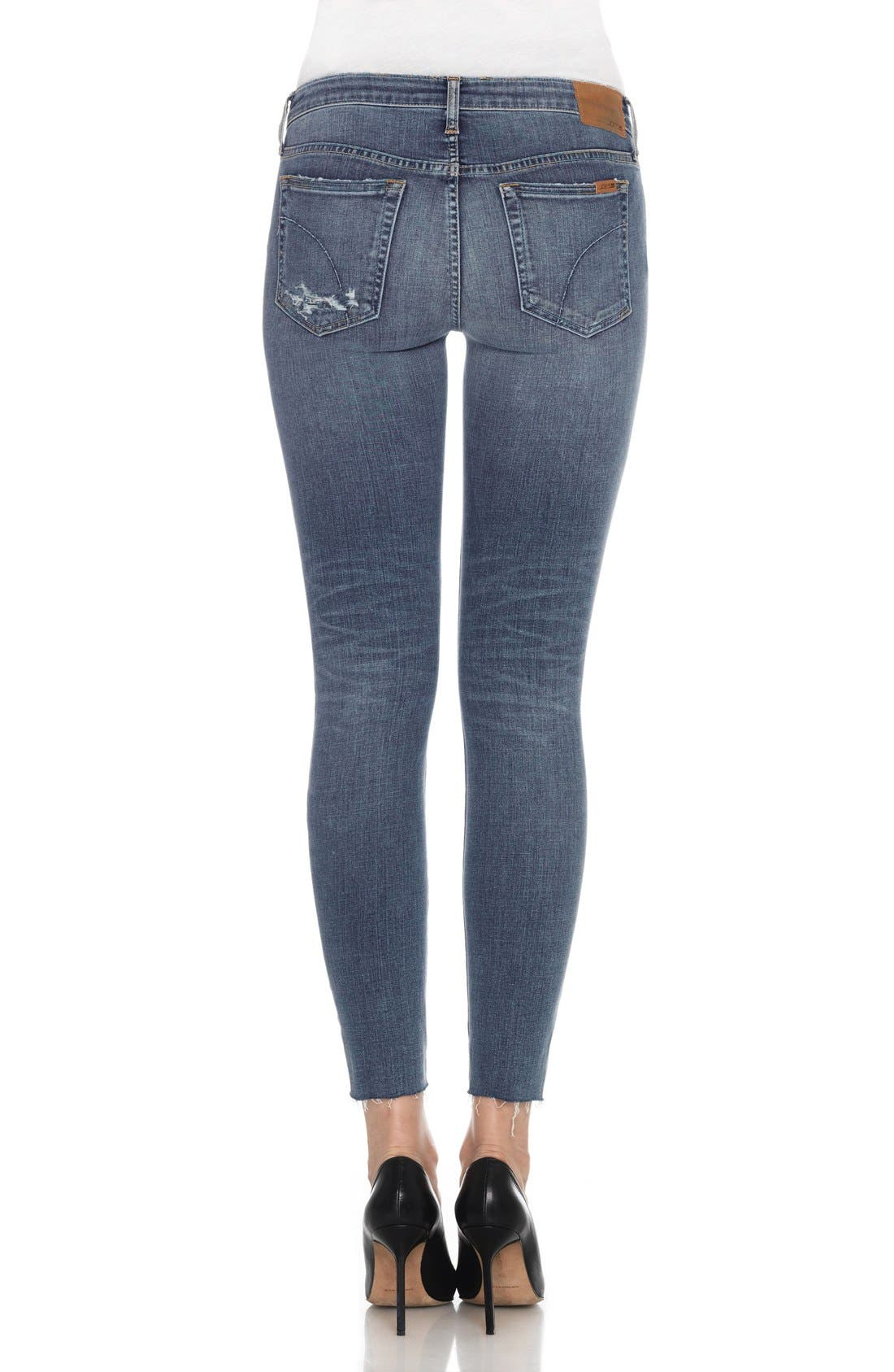 Flawless - Icon Ankle Skinny Jeans,                             Alternate thumbnail 5, color,                             401
