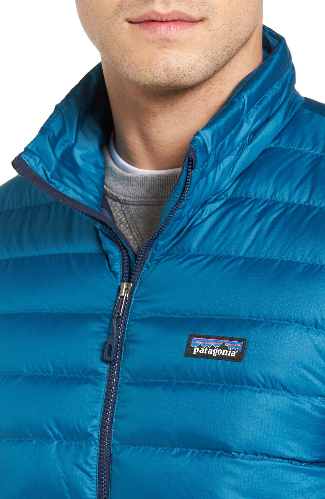 Water Repellent Down Jacket,                             Alternate thumbnail 75, color,