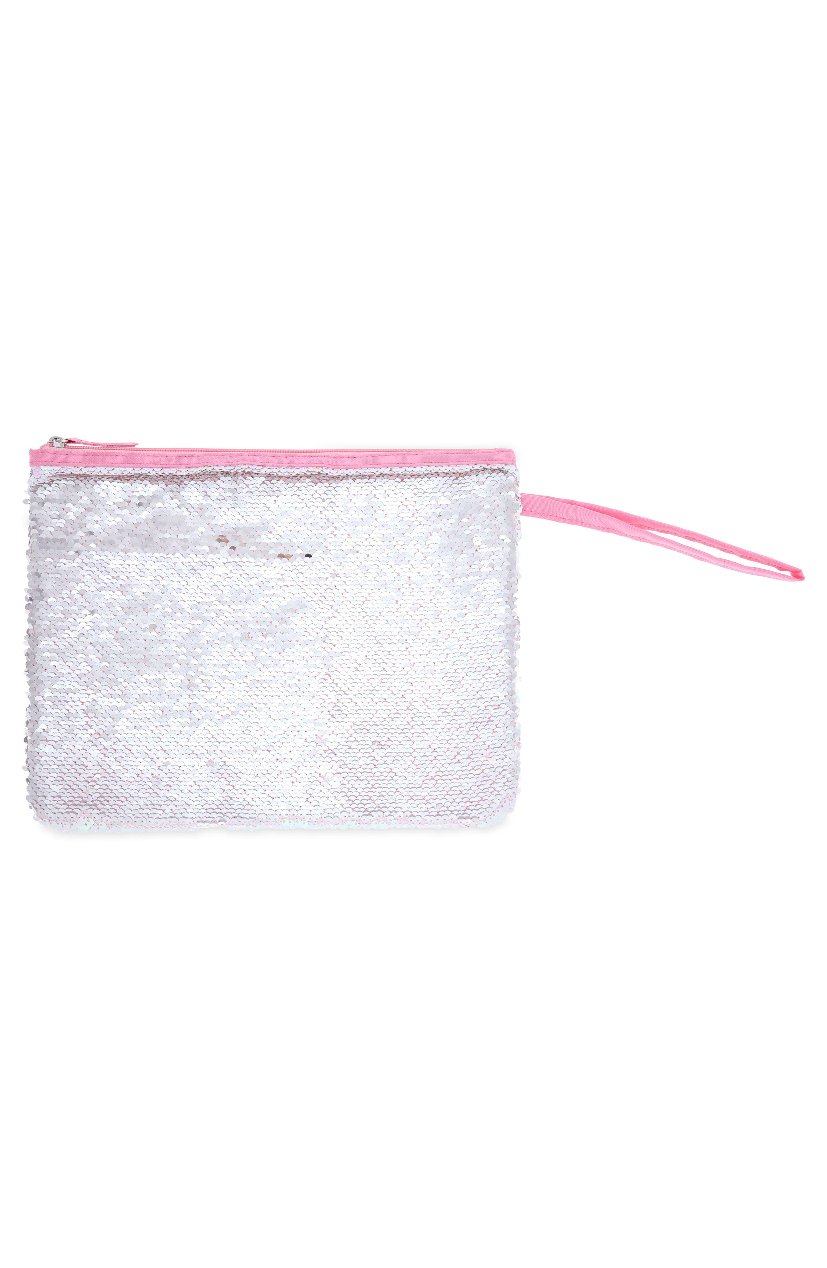Sequin Bikini Bag,                             Alternate thumbnail 6, color,                             650