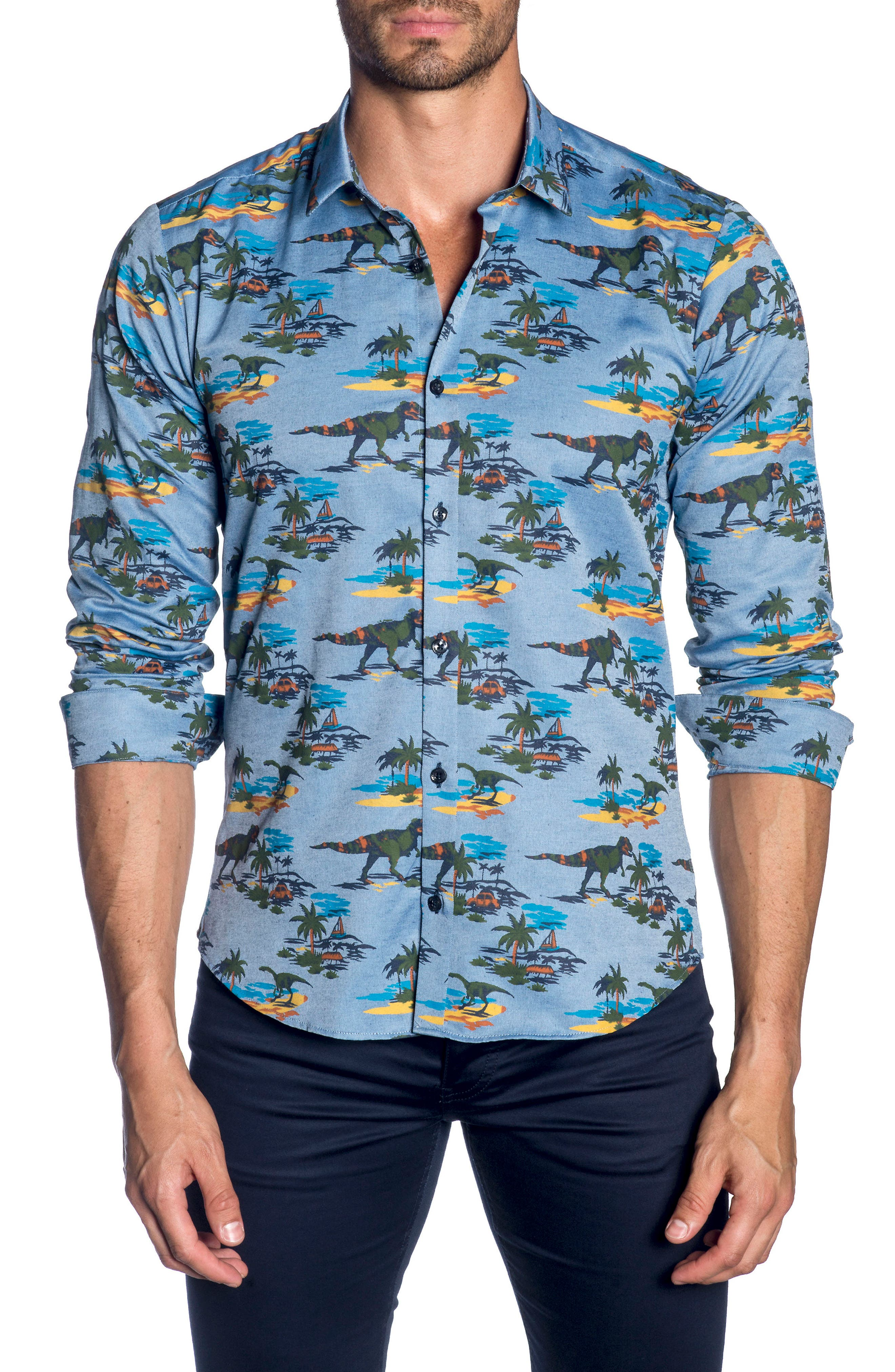 Trim Fit Sport Shirt,                         Main,                         color, 426