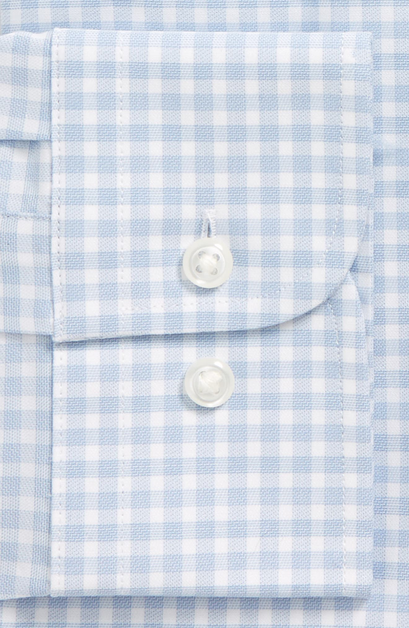 Tech-Smart Traditional Fit Stretch Check Dress Shirt,                             Alternate thumbnail 7, color,