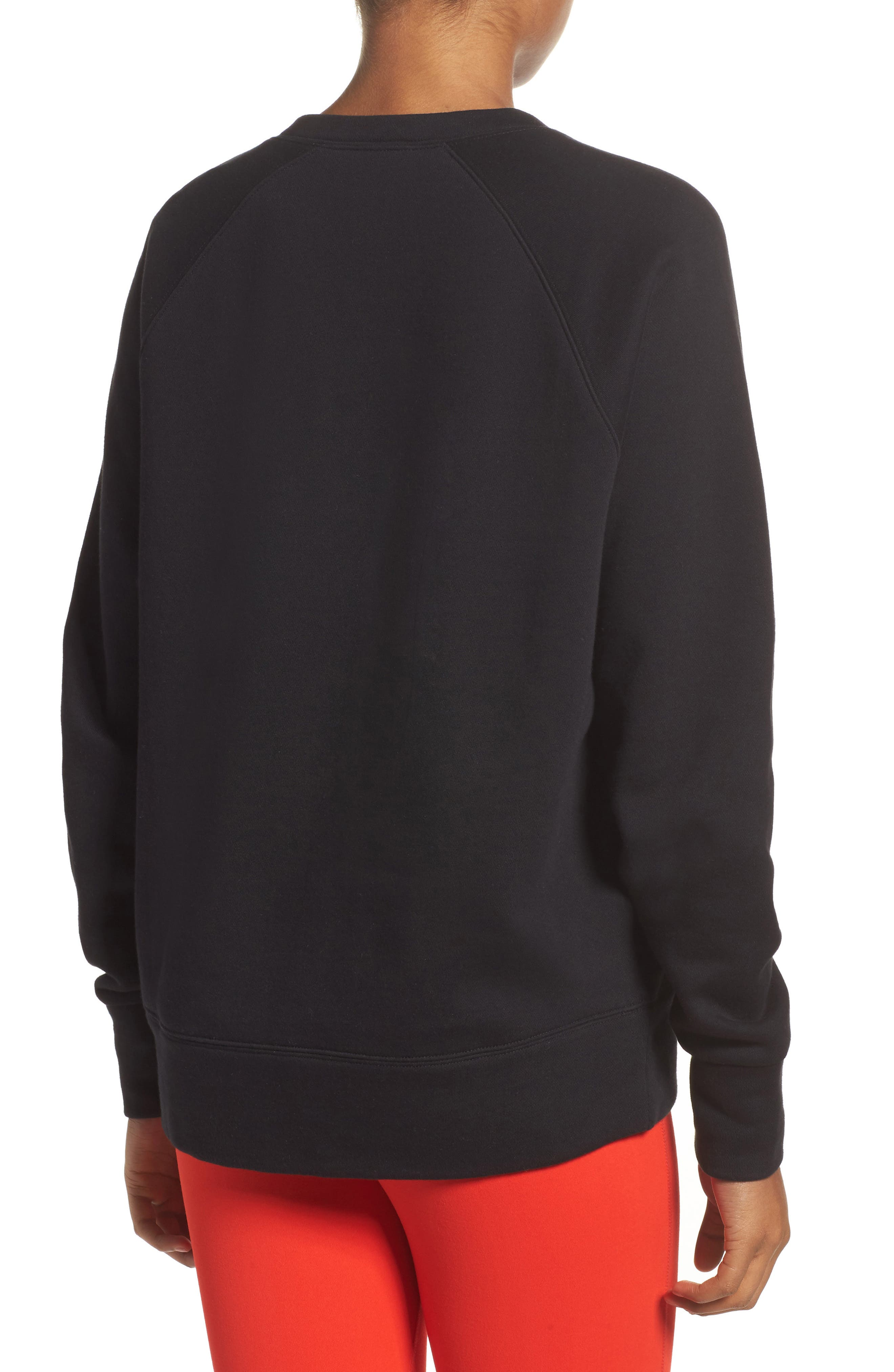 Lace-Up Pullover,                             Alternate thumbnail 2, color,                             001