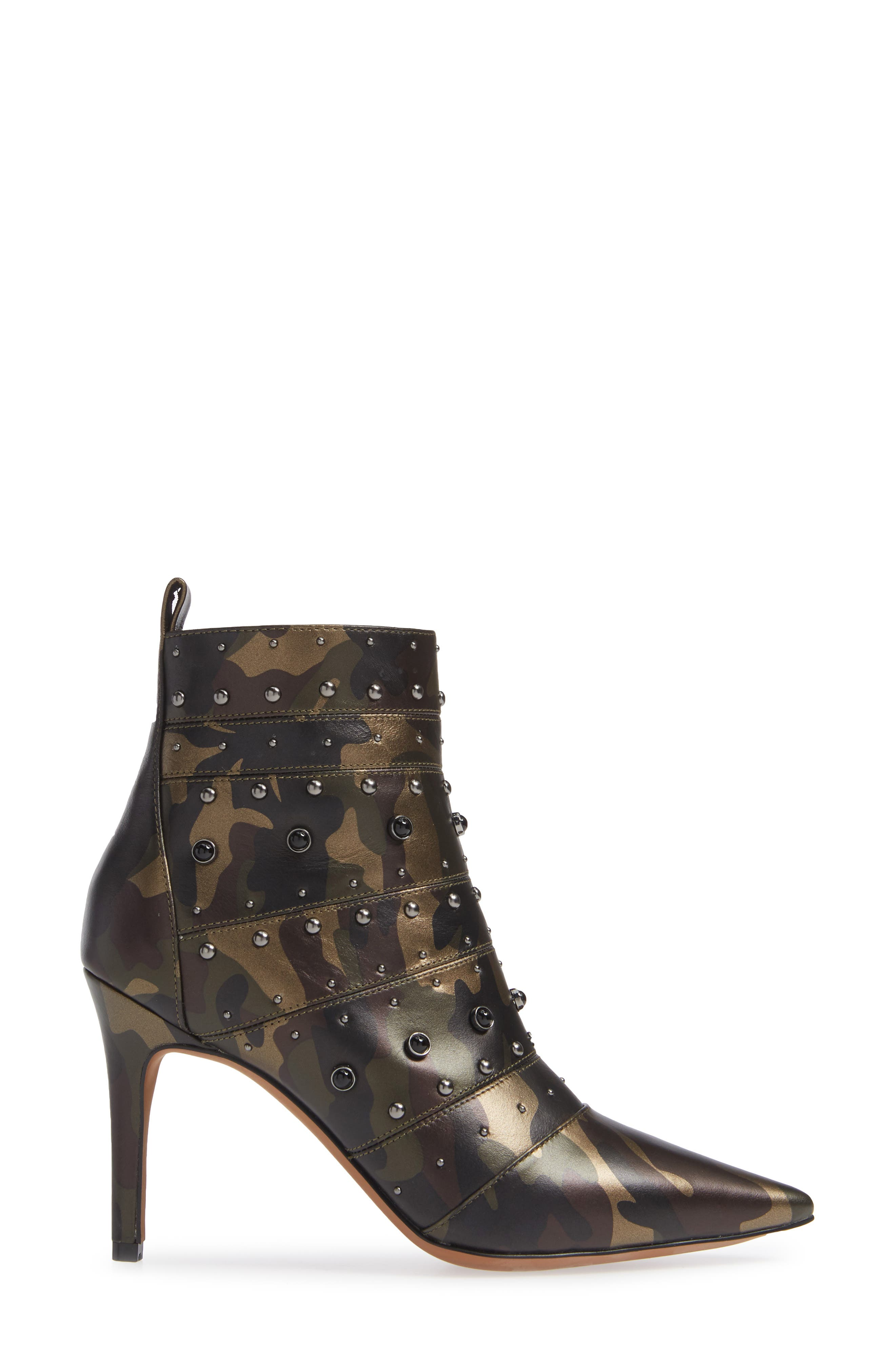 Nara Studded Bootie,                             Alternate thumbnail 3, color,                             CAMO LEATHER