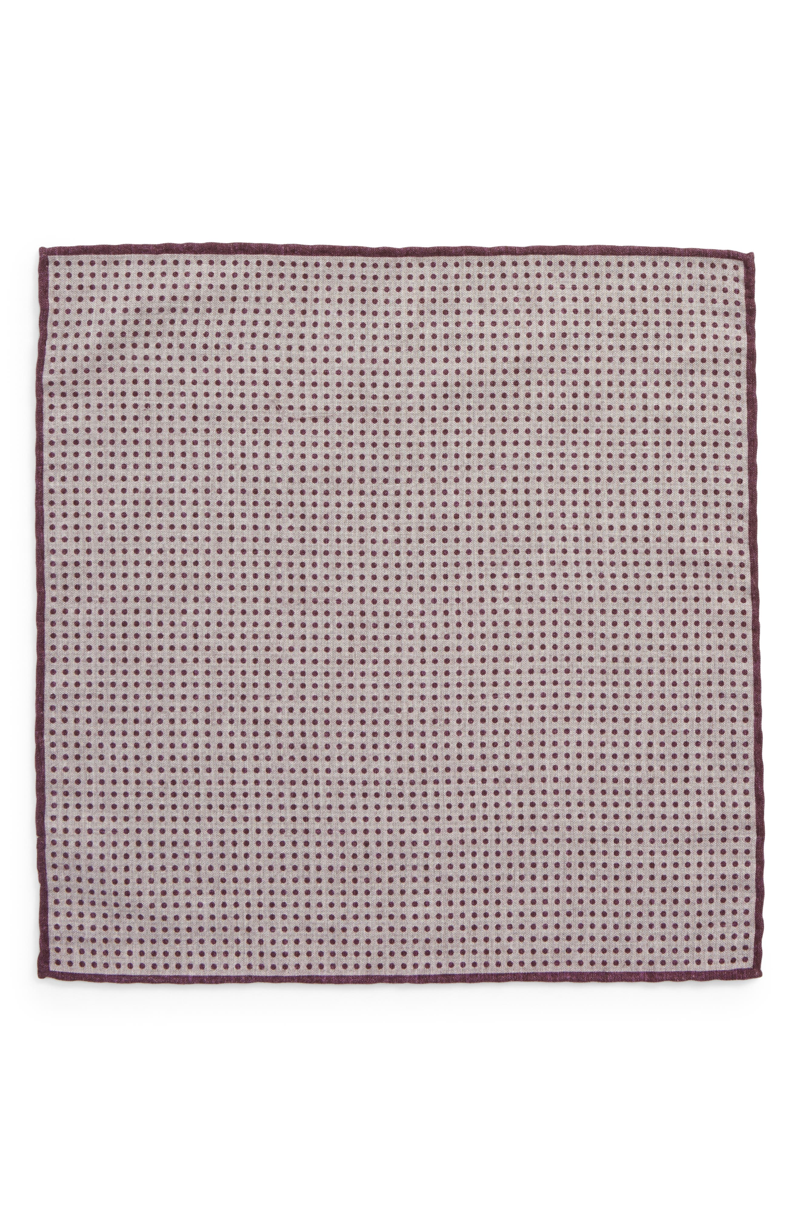 Dot Wool & Cotton Pocket Square,                             Alternate thumbnail 6, color,