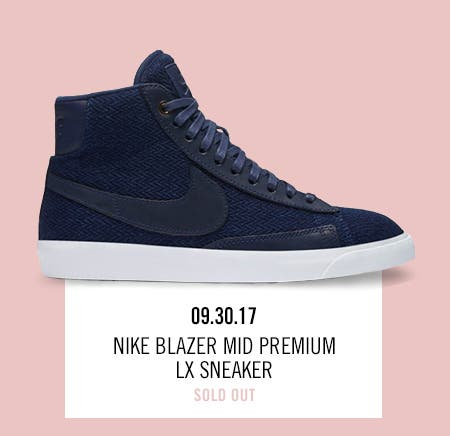 Nordstrom x Nike: new and hot Nike Blazer Mid Premium LX Sneaker.