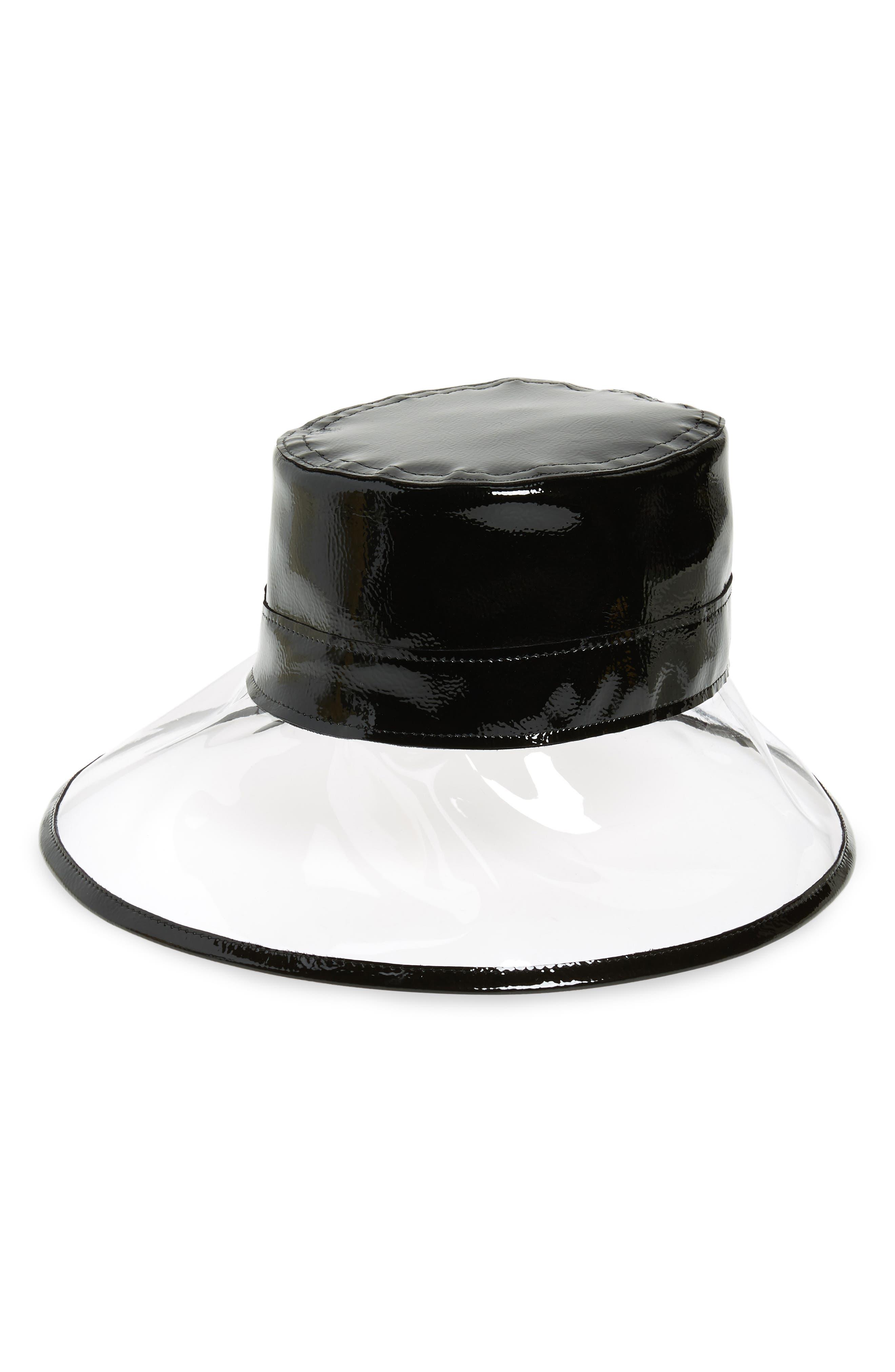 Go Go Rain Bucket Hat, Main, color, CRYSTAL/ BLACK