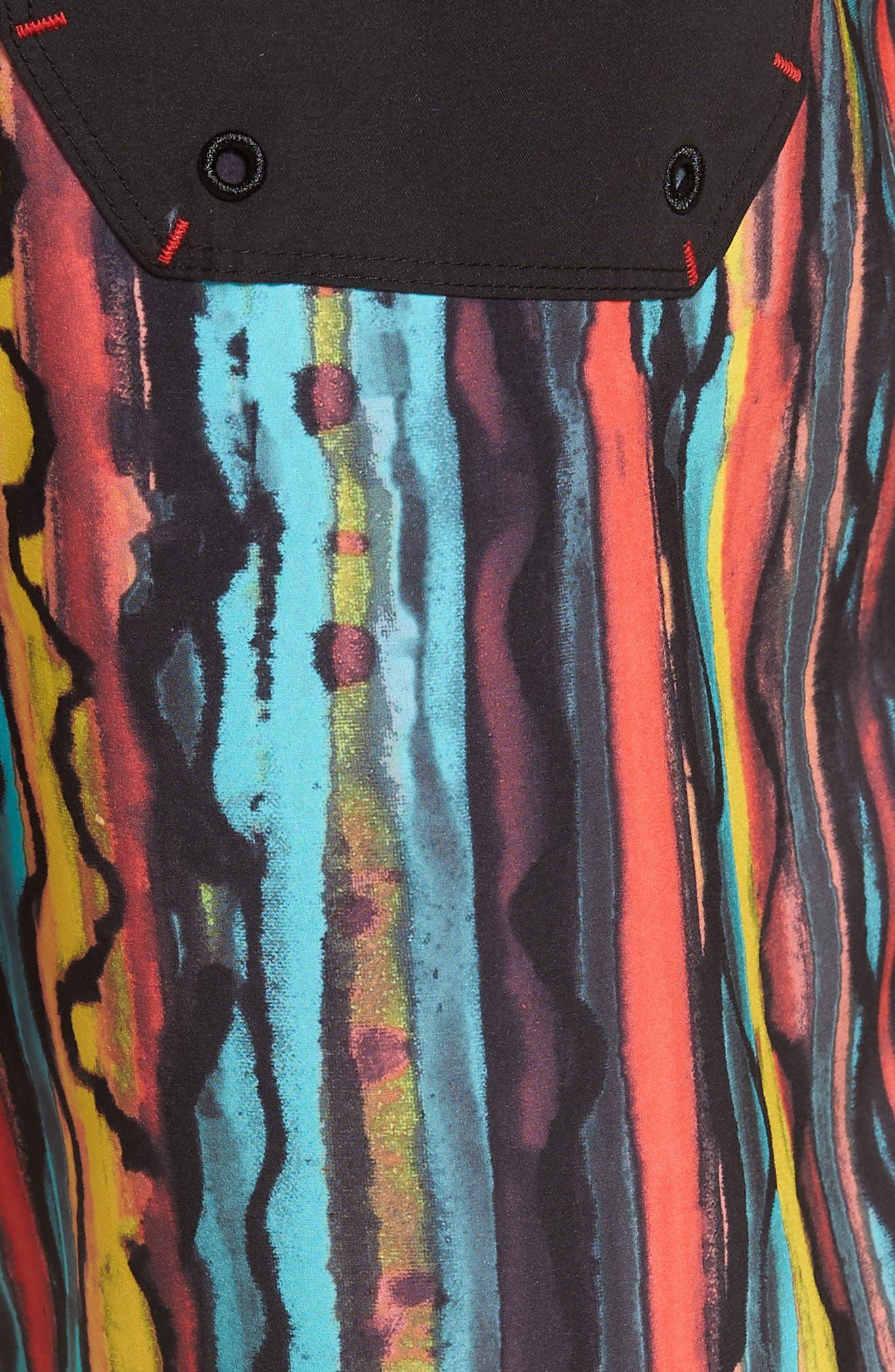 Phantom Glass Shop Valley Swim Trunks,                             Alternate thumbnail 5, color,                             AURORA BLACK