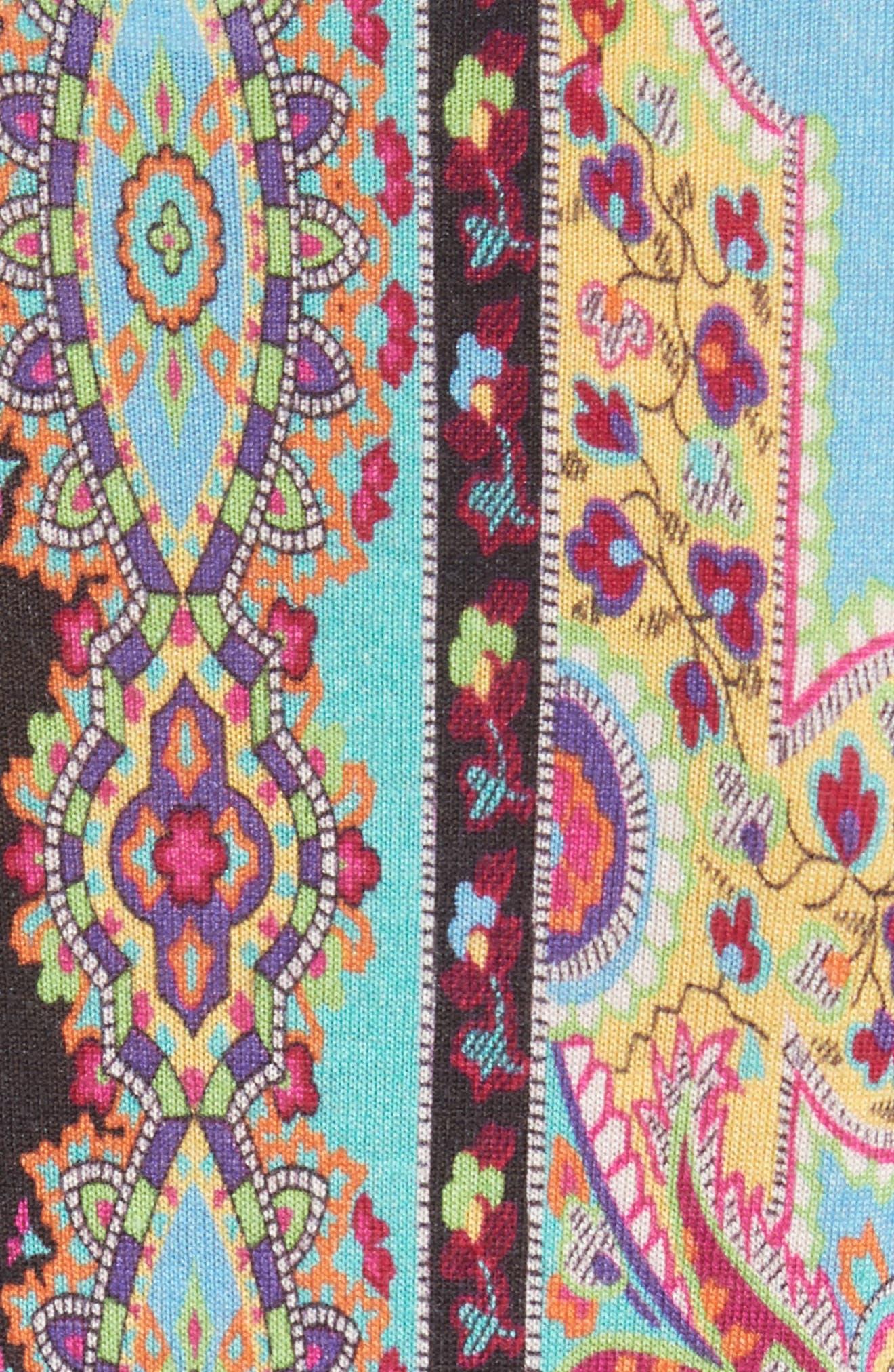 Harlem Paisley Silk & Cashmere Sweater,                             Alternate thumbnail 5, color,                             800