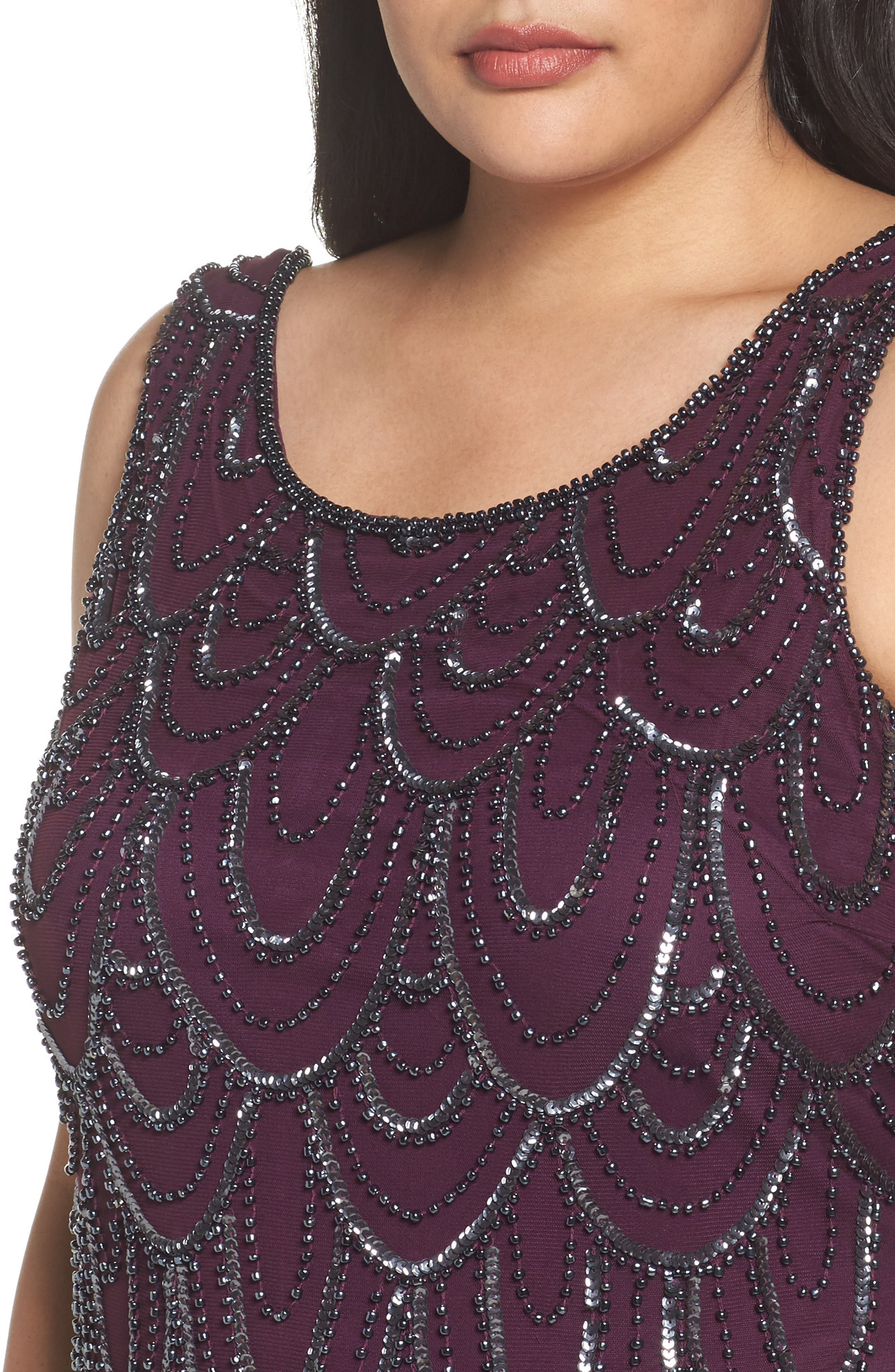 Beaded Sheath Dress,                             Alternate thumbnail 48, color,