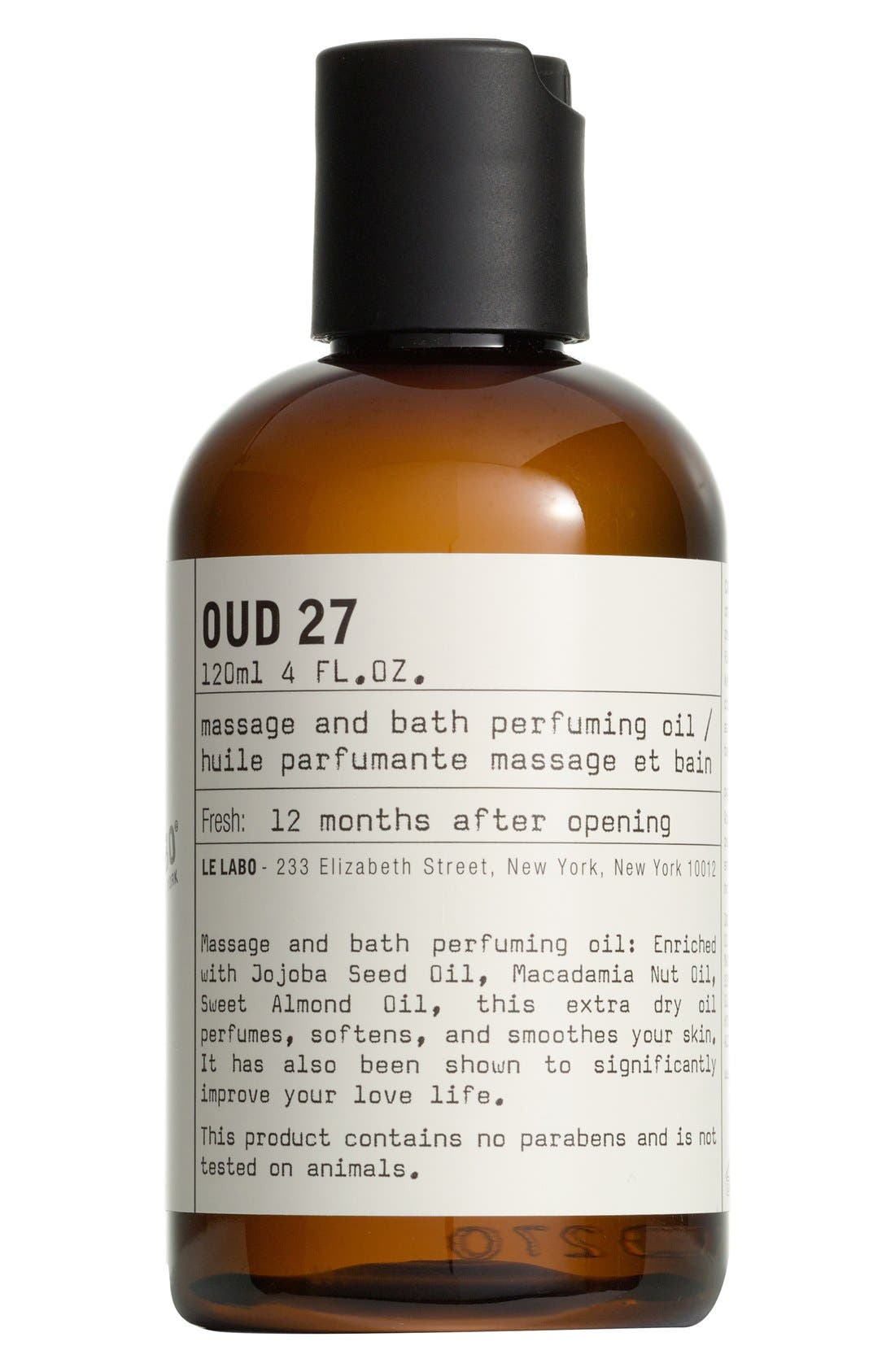 'Oud 27' Body Oil,                             Main thumbnail 1, color,                             NO COLOR