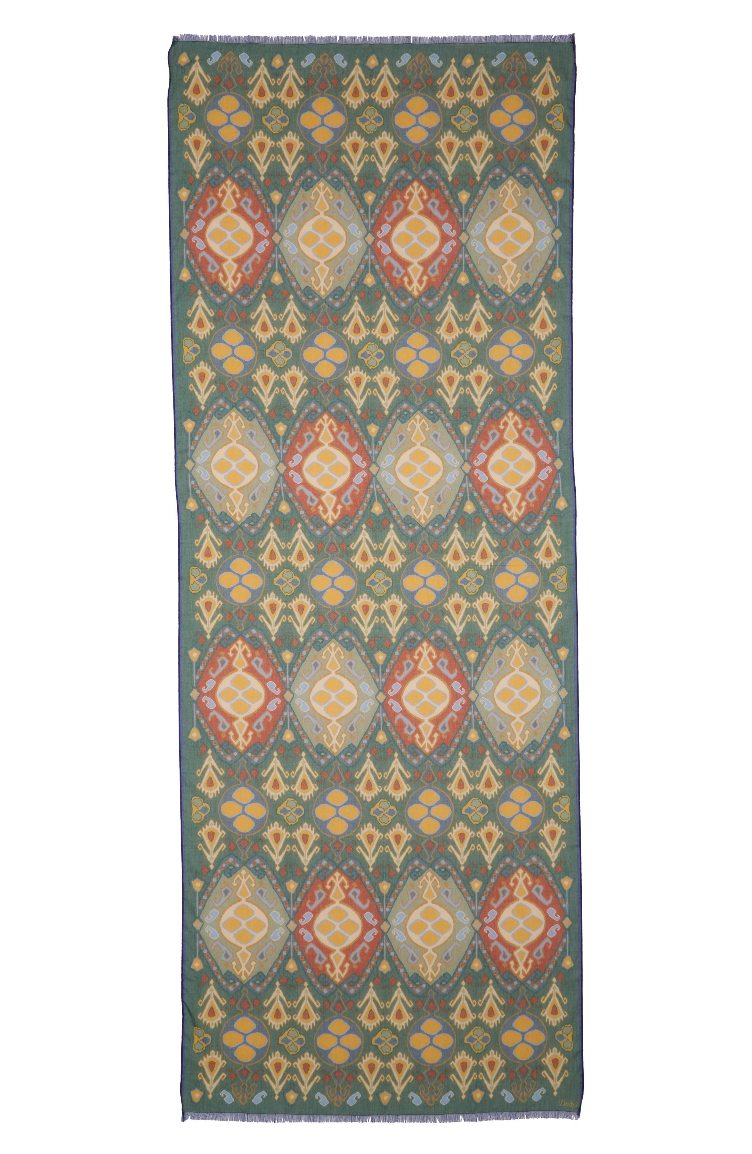 Drakes Kelim Floral Print Scarf,                             Alternate thumbnail 2, color,                             300
