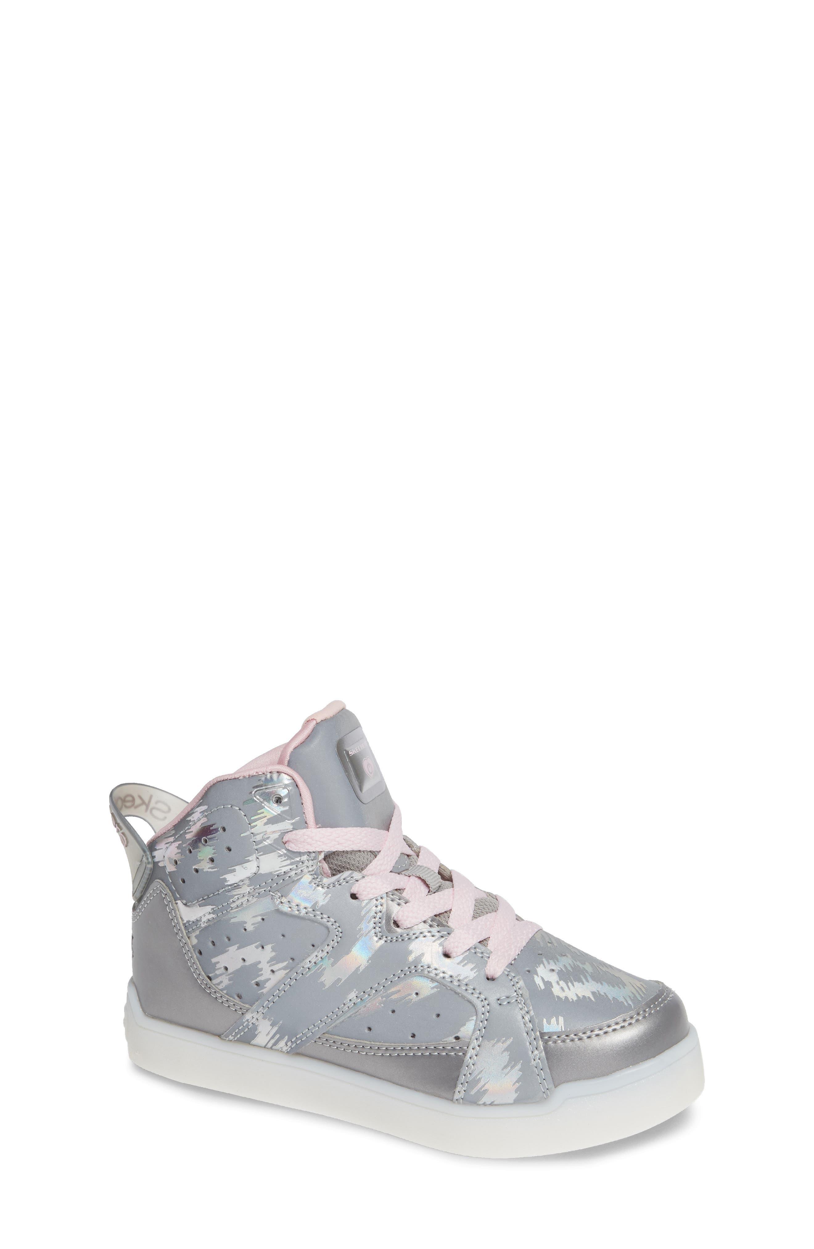 Energy Lights Pro Reflecti-Fab Sneaker,                             Main thumbnail 1, color,                             SILVER