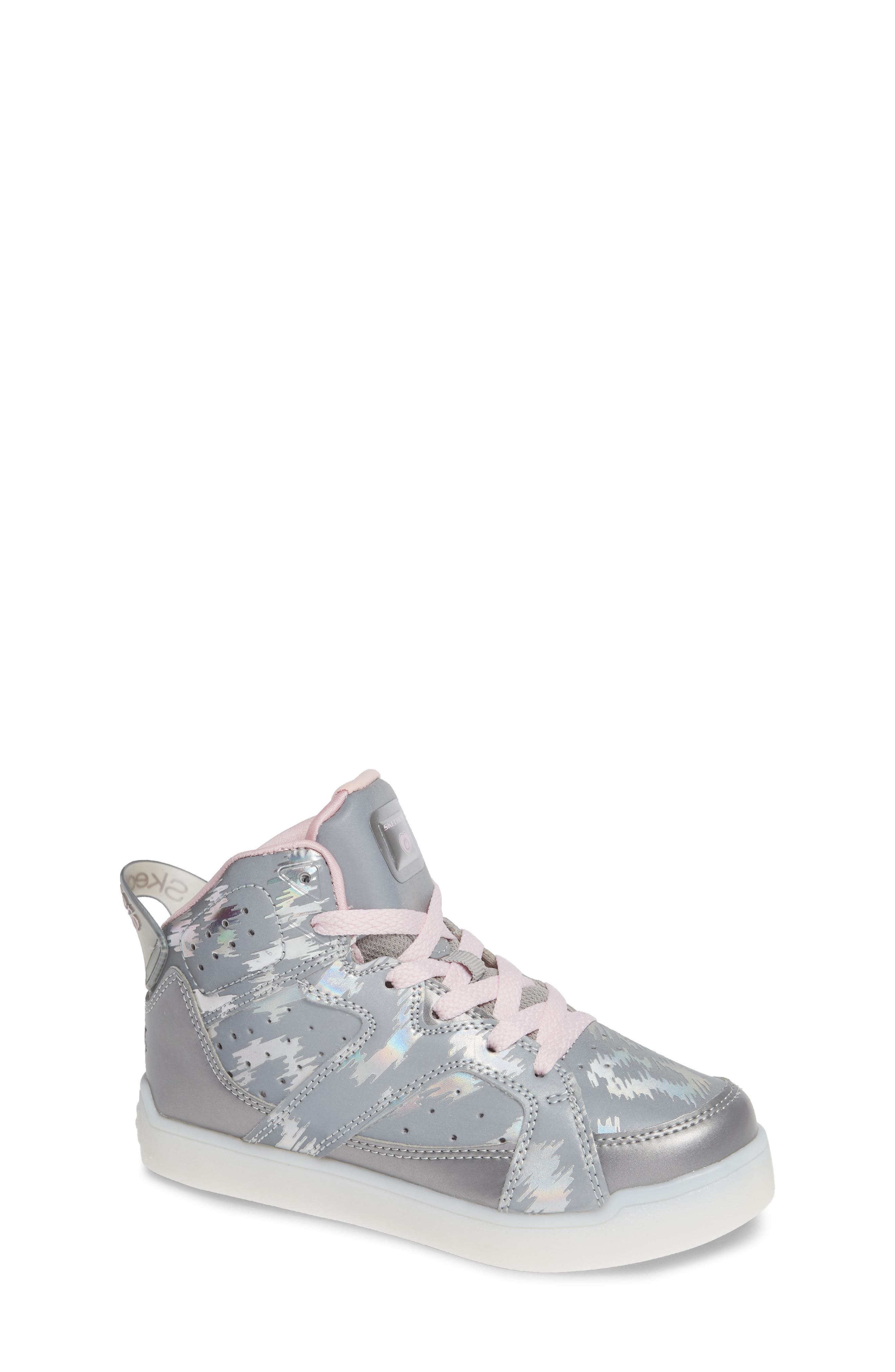 Energy Lights Pro Reflecti-Fab Sneaker,                         Main,                         color, SILVER