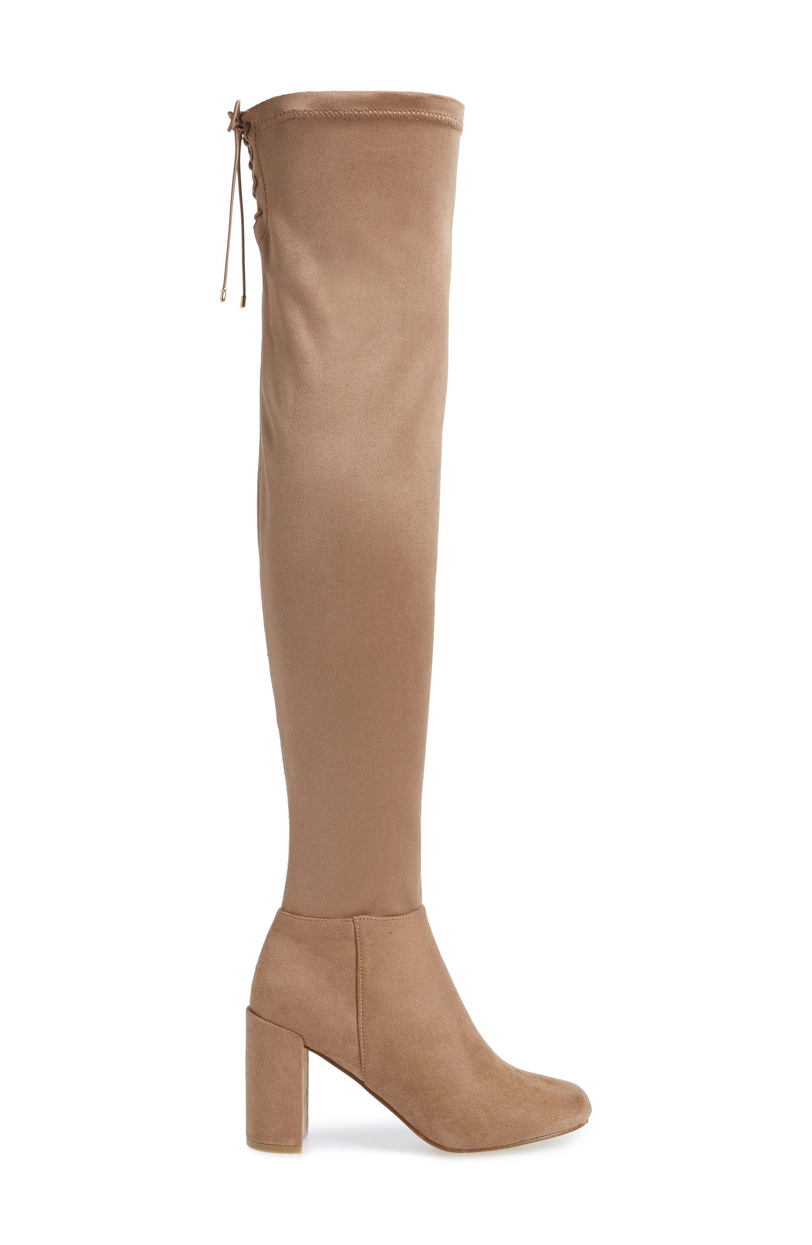 King Over the Knee Boot,                             Alternate thumbnail 3, color,                             MINK
