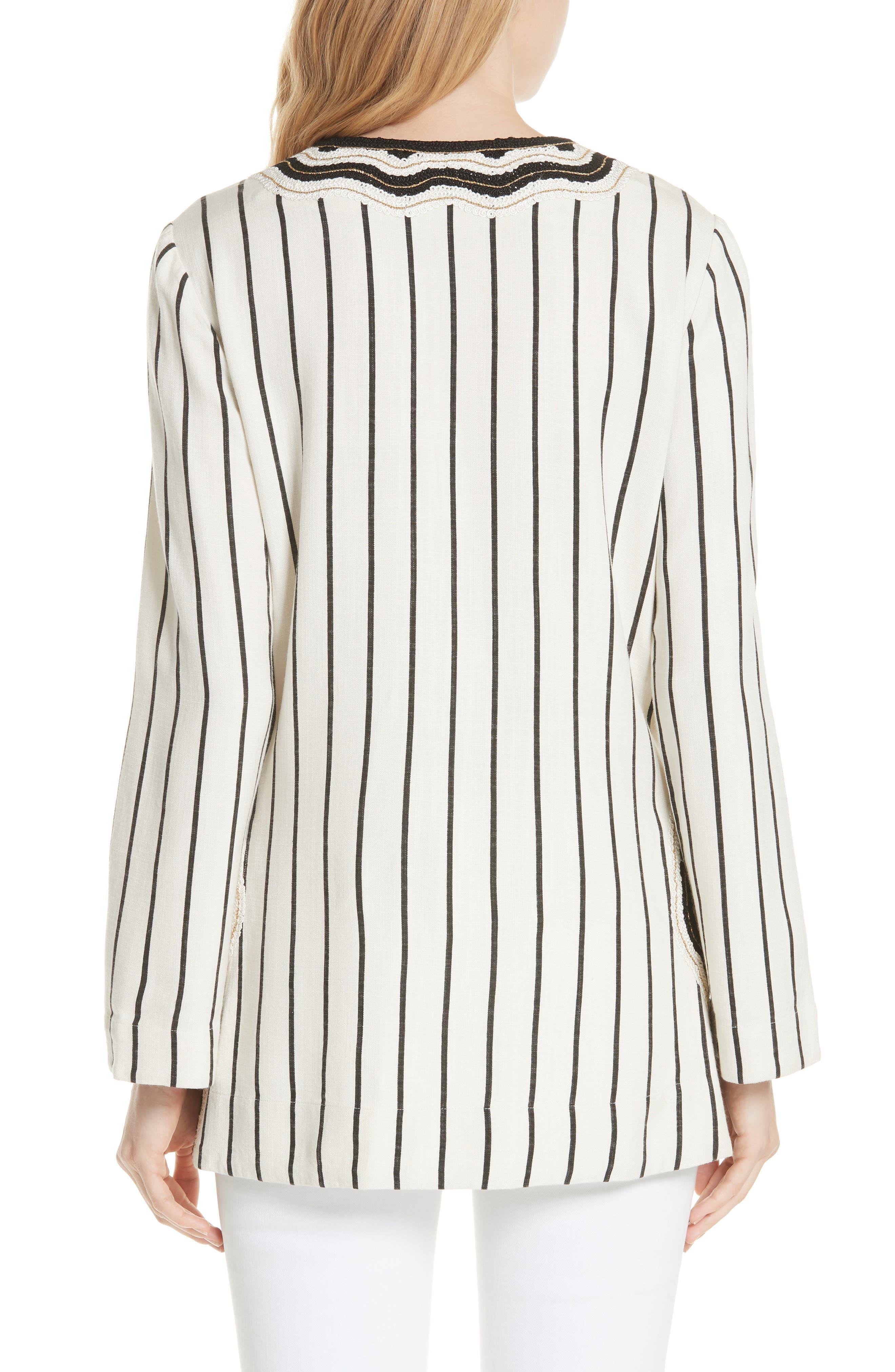 Tory Embellished Stripe Tunic,                             Alternate thumbnail 2, color,