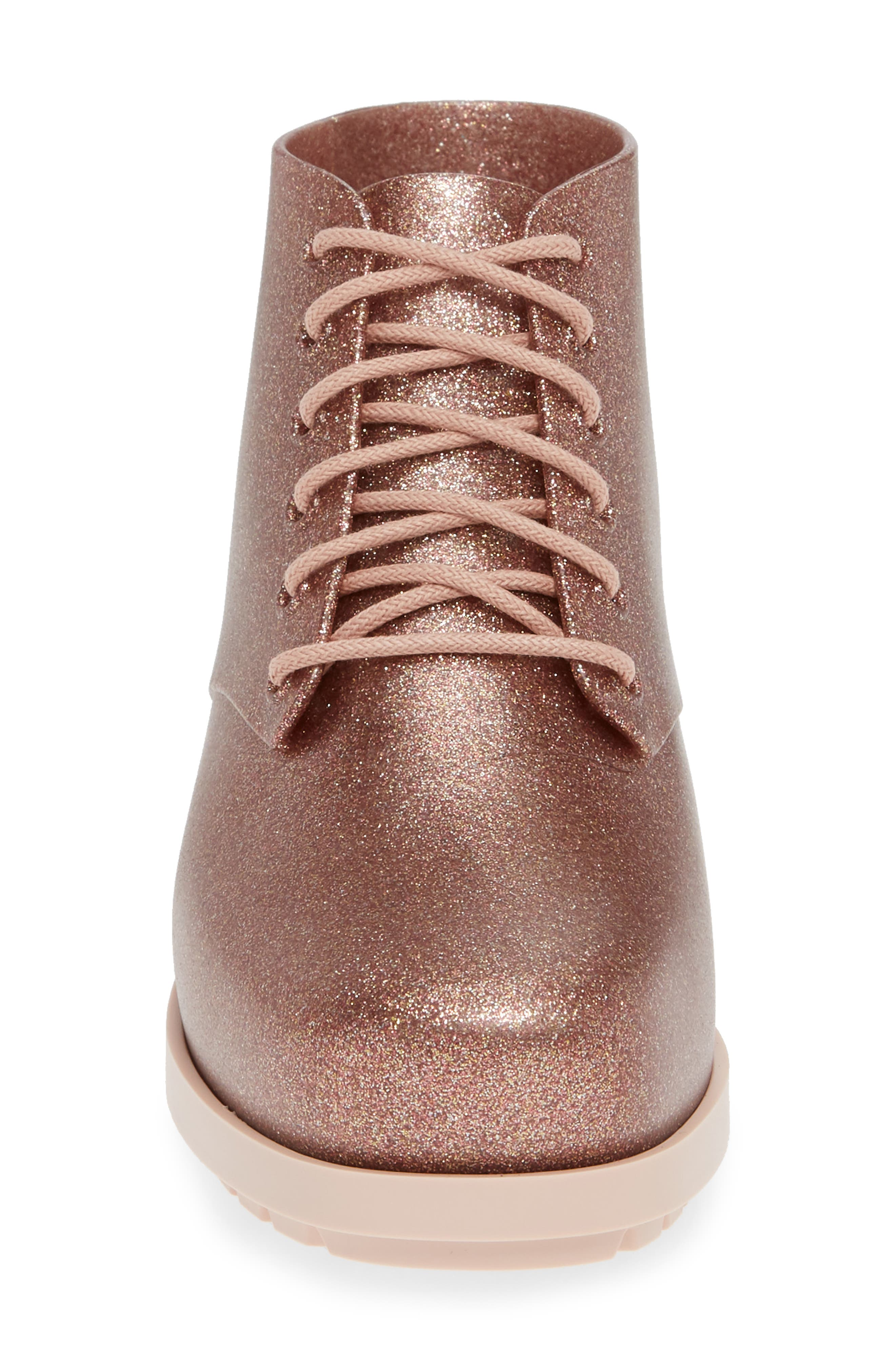MEL BY MELISSA,                             'Stella' Boot,                             Alternate thumbnail 4, color,                             PINK STARRY