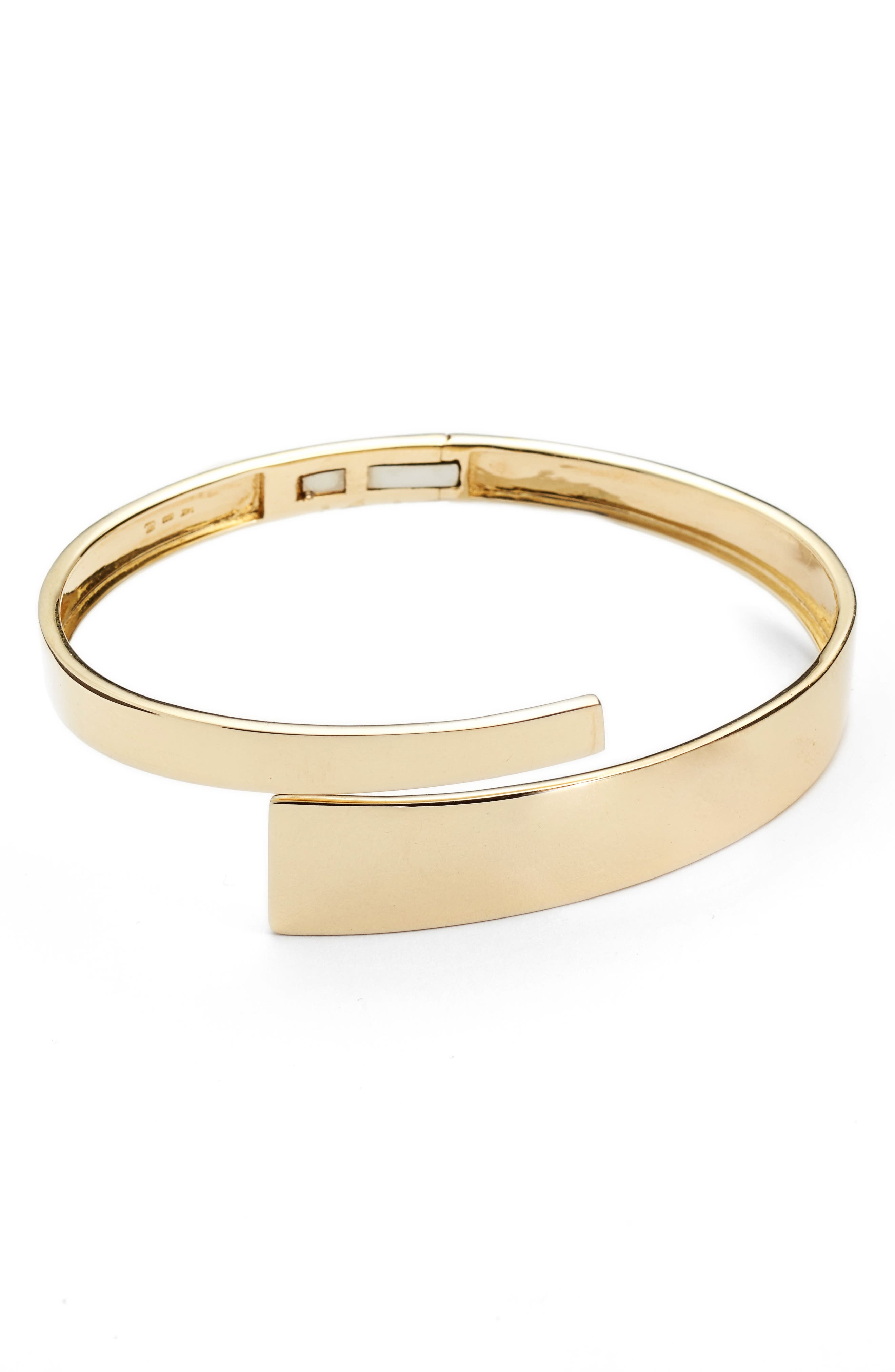 Ofira Open Wrap Bangle,                             Main thumbnail 1, color,                             YELLOW GOLD