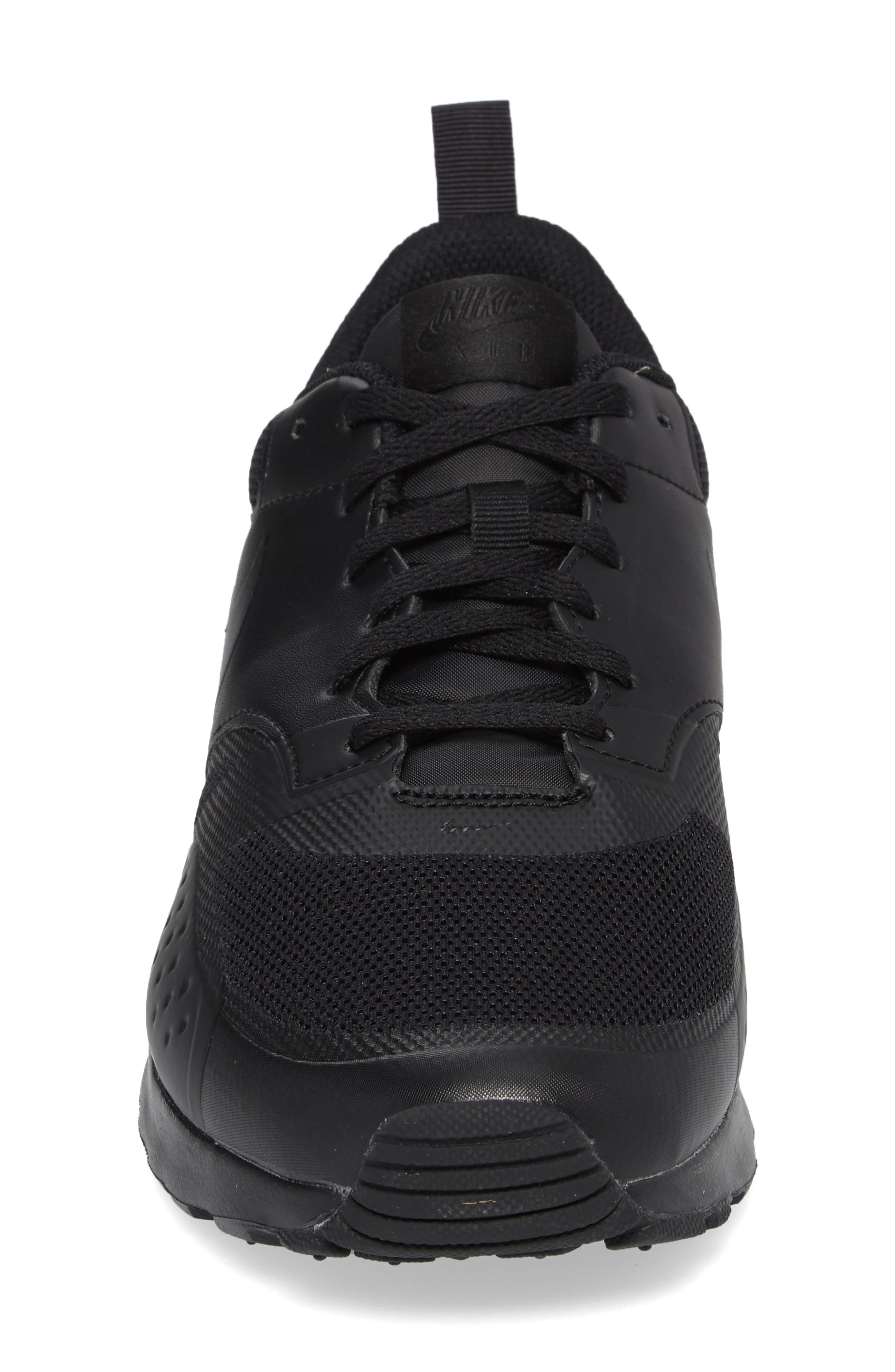 Air Max Vision Sneaker,                             Alternate thumbnail 4, color,                             BLACK/ BLACK