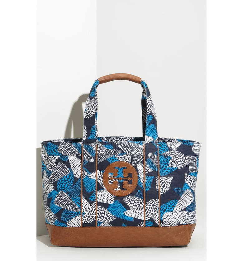 567aaace249d TORY BURCH Coated Canvas Beach Tote