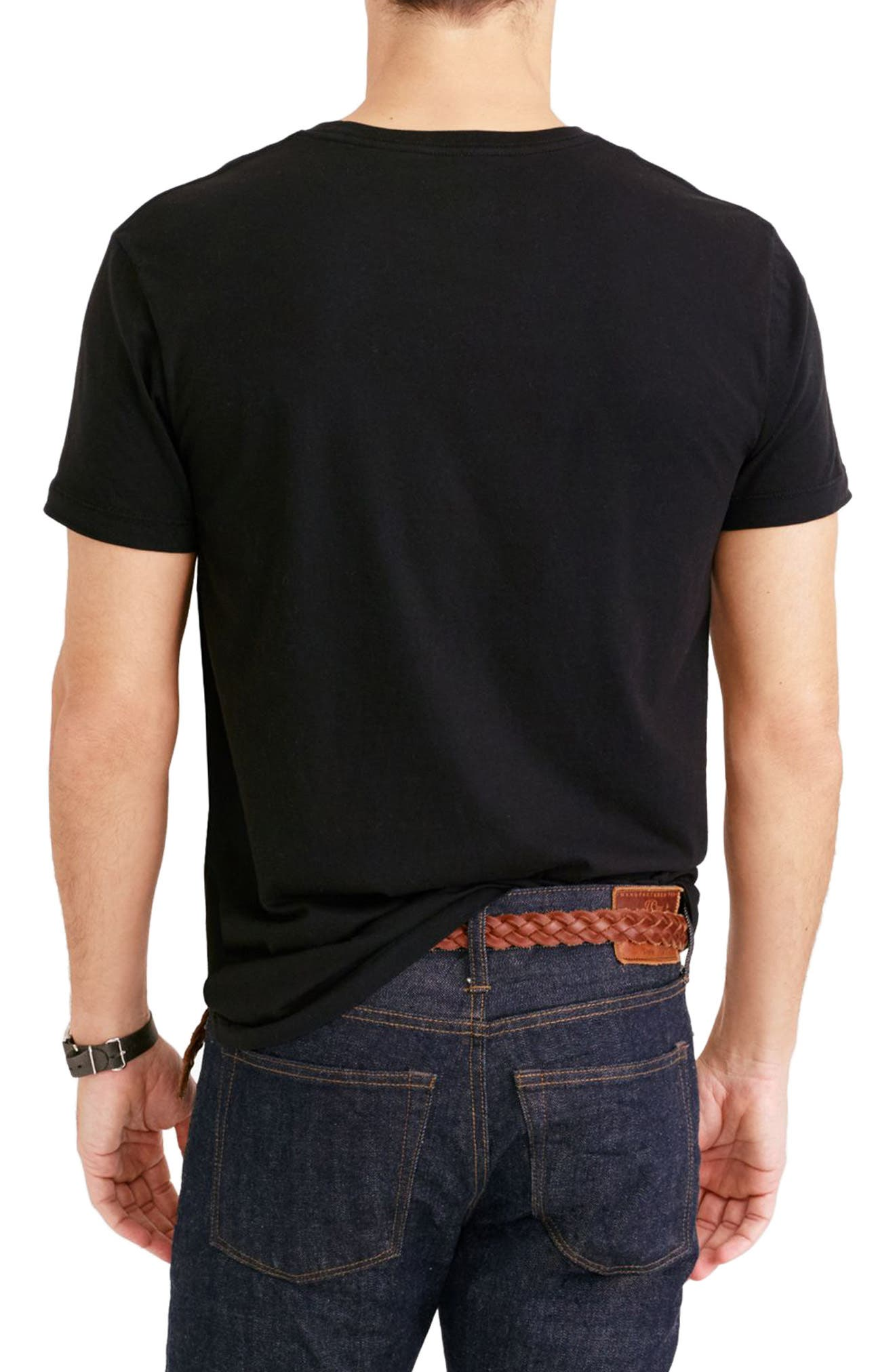Slim Fit Broken-In Pocket T-Shirt,                             Alternate thumbnail 2, color,                             001