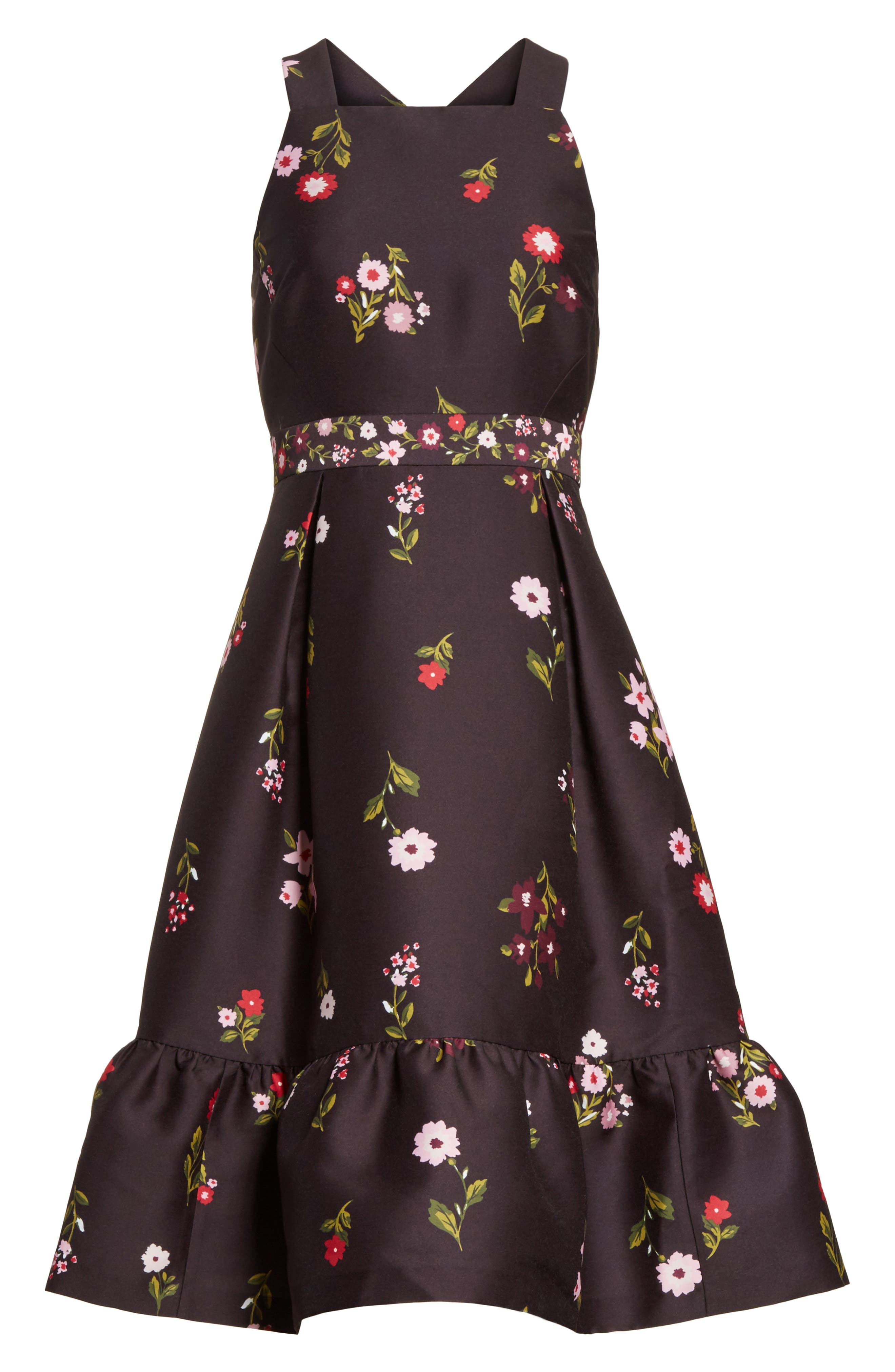 in bloom fit & flare dress,                             Alternate thumbnail 6, color,                             006