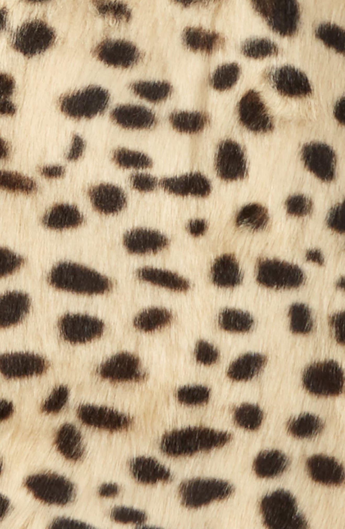 Leopard Print Faux Fur Vest,                             Alternate thumbnail 2, color,                             284