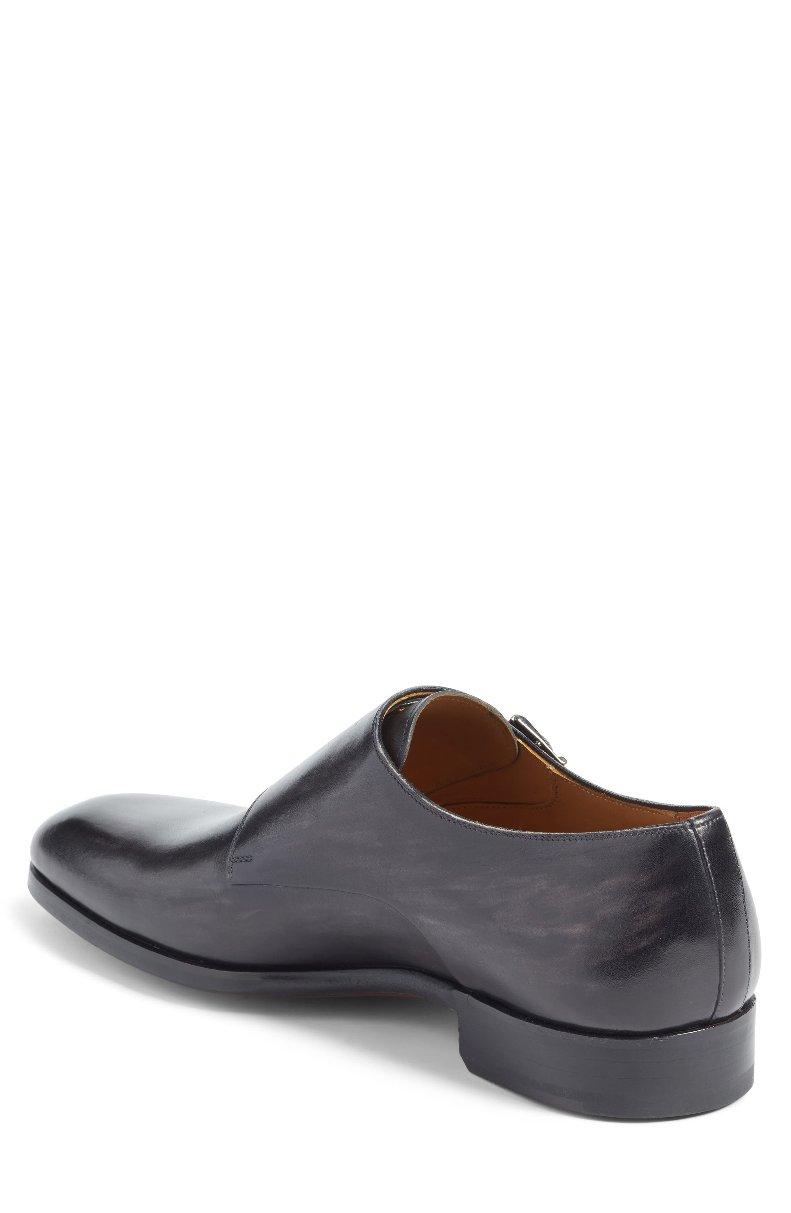 Lucio Double Strap Monk Shoe,                             Alternate thumbnail 2, color,                             LIGHT GREY LEATHER