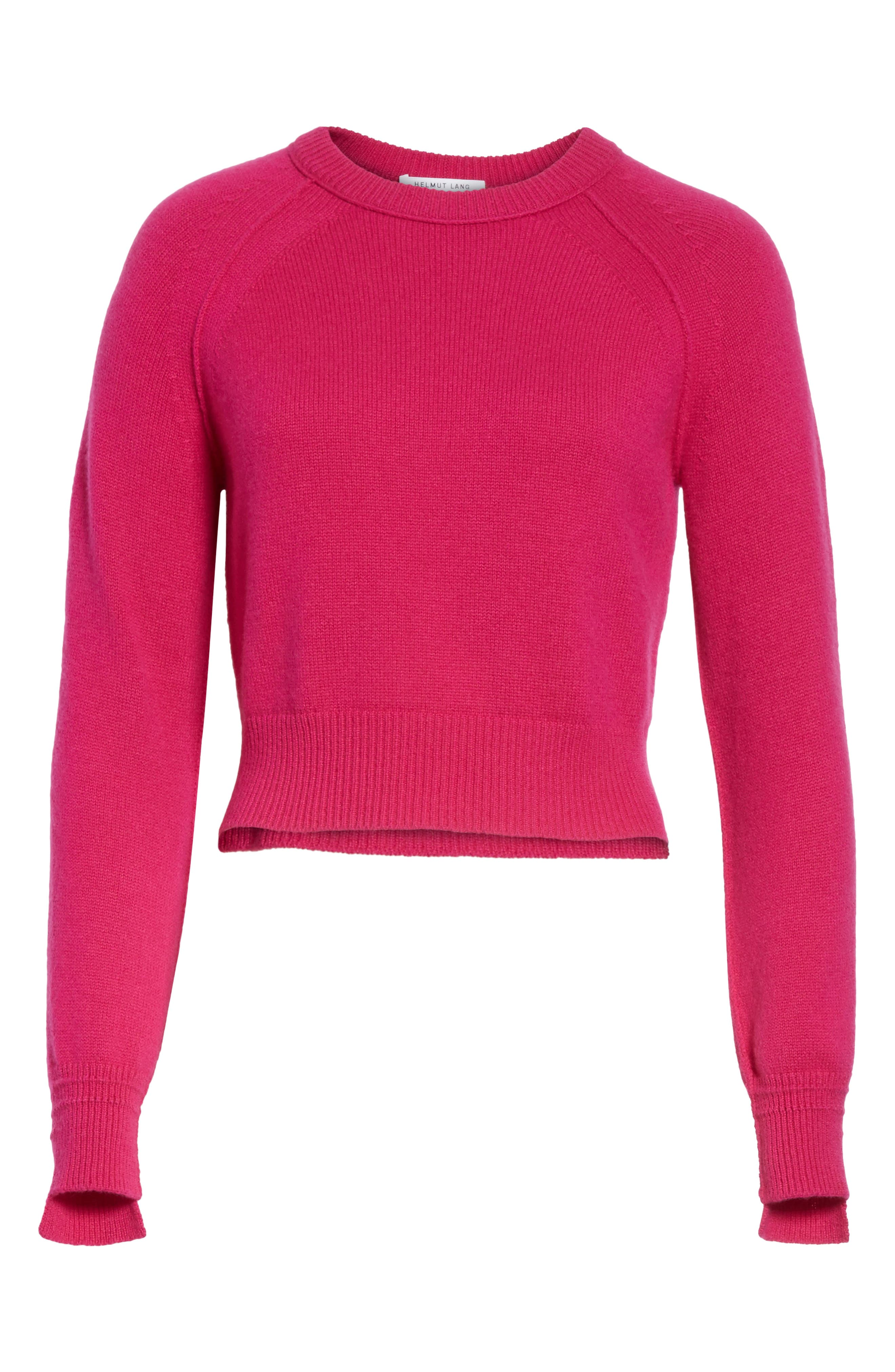 Cashmere Crop Sweater,                             Alternate thumbnail 6, color,                             655
