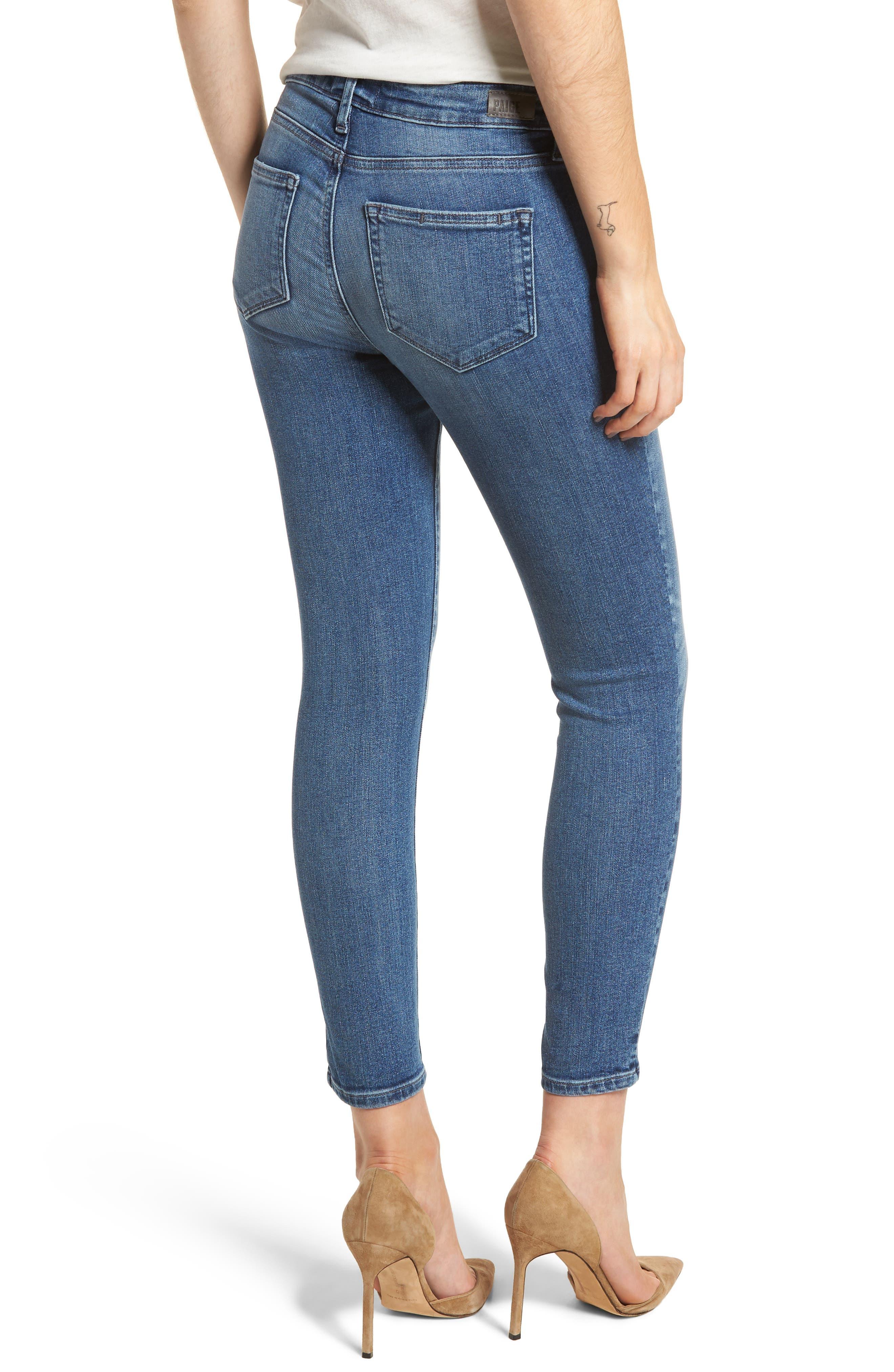 Transcend Vintage - Verdugo Crop Ultra Skinny Jeans,                             Alternate thumbnail 2, color,                             400
