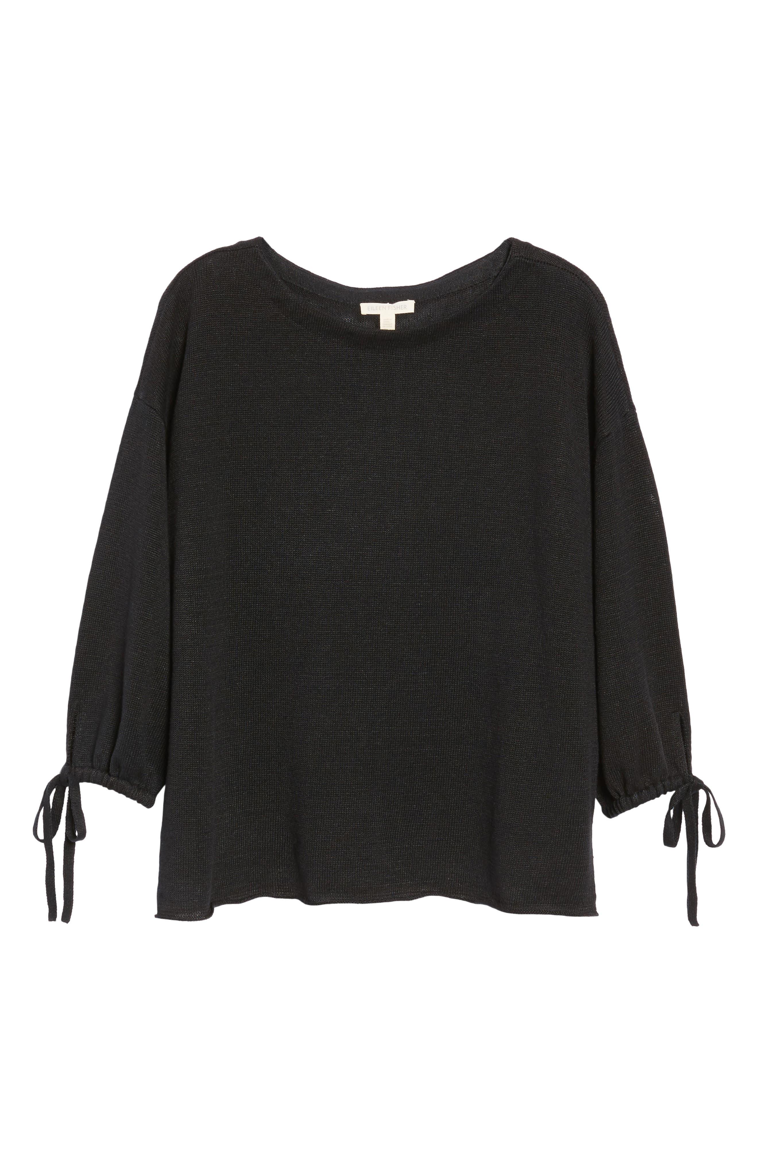 Organic Linen Sweater,                             Alternate thumbnail 21, color,
