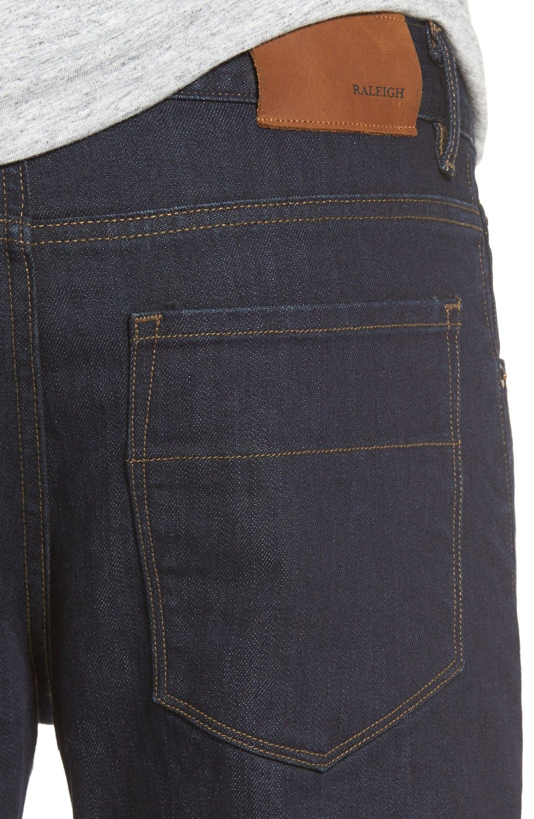 'Jones' Slim Straight Leg Jeans,                             Alternate thumbnail 4, color,                             418
