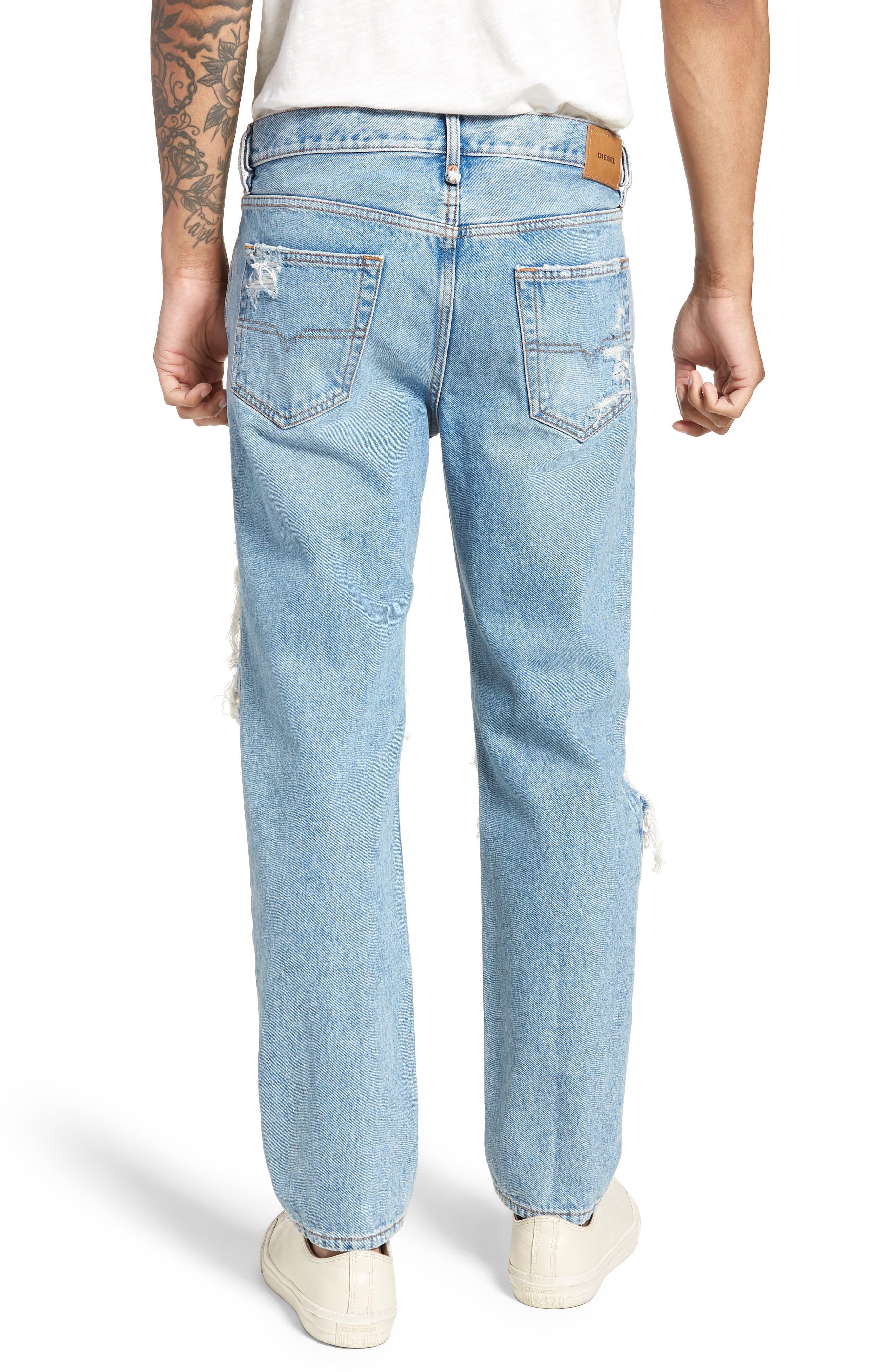 Mharky Slim Straight Leg Jeans,                             Alternate thumbnail 2, color,                             0076M