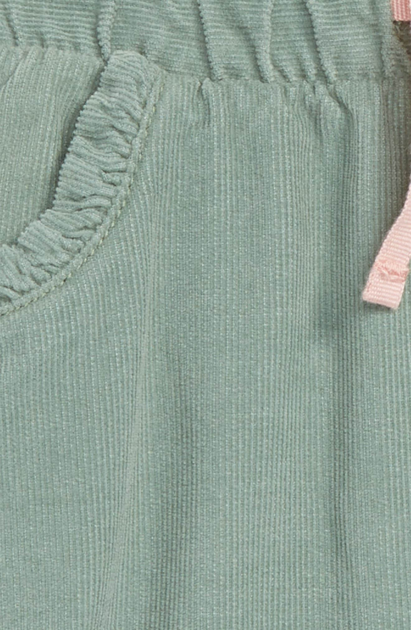 Appliqué Pocket Pants,                             Alternate thumbnail 3, color,                             PIXIE GREEN/ BIRD