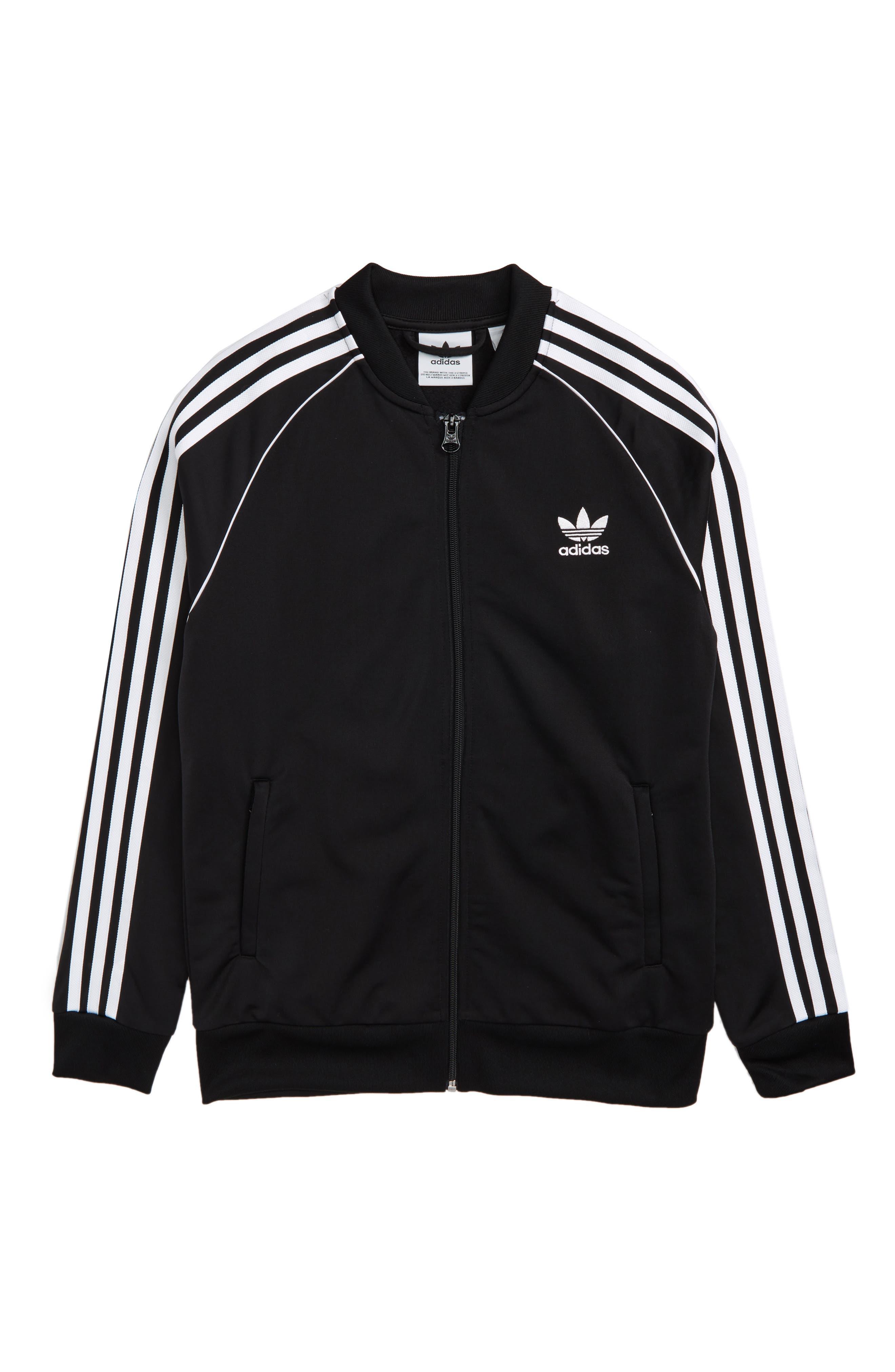 J Track Jacket,                         Main,                         color, BLACK