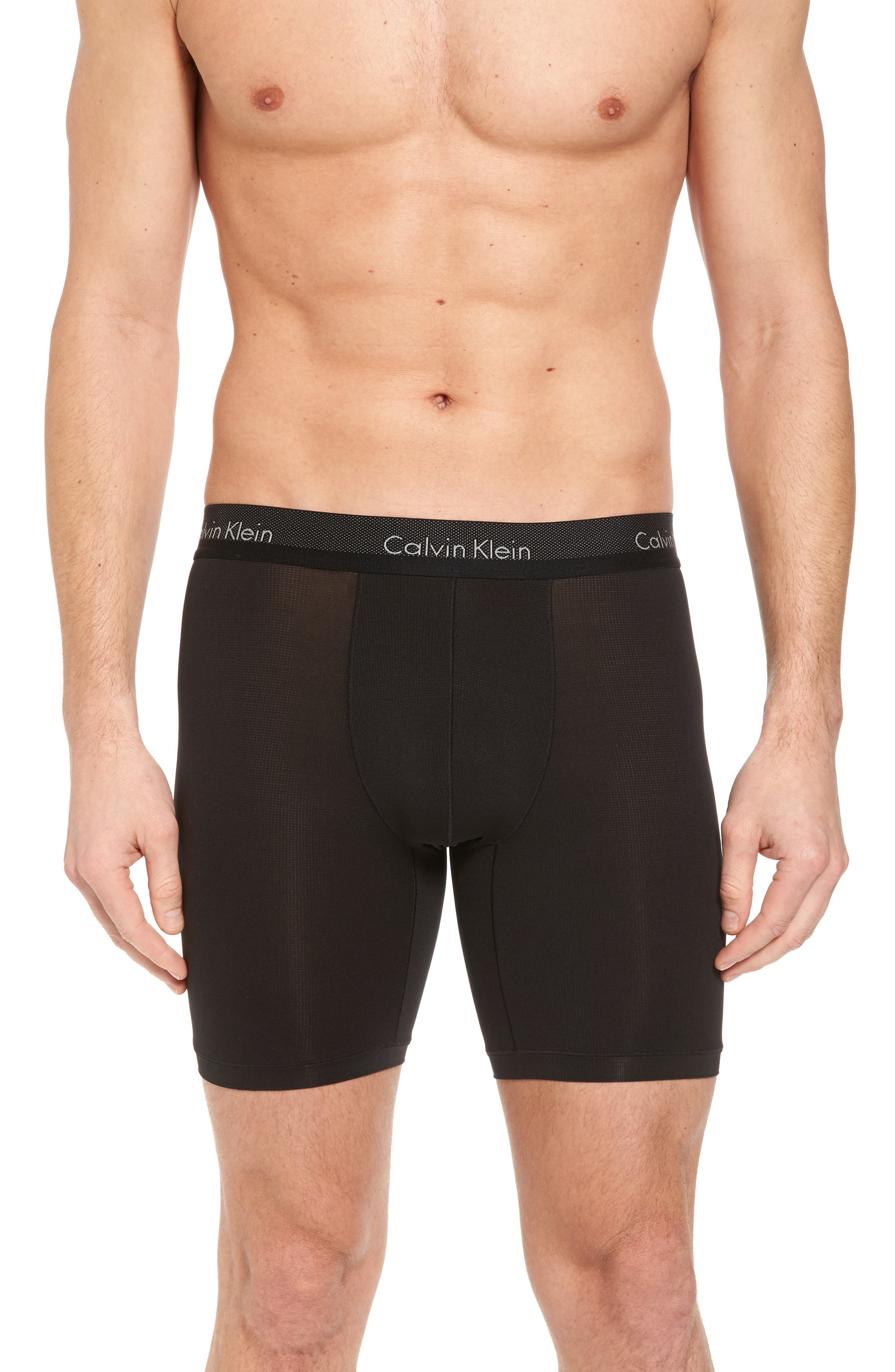 Light Boxer Briefs,                             Main thumbnail 1, color,                             BLACK