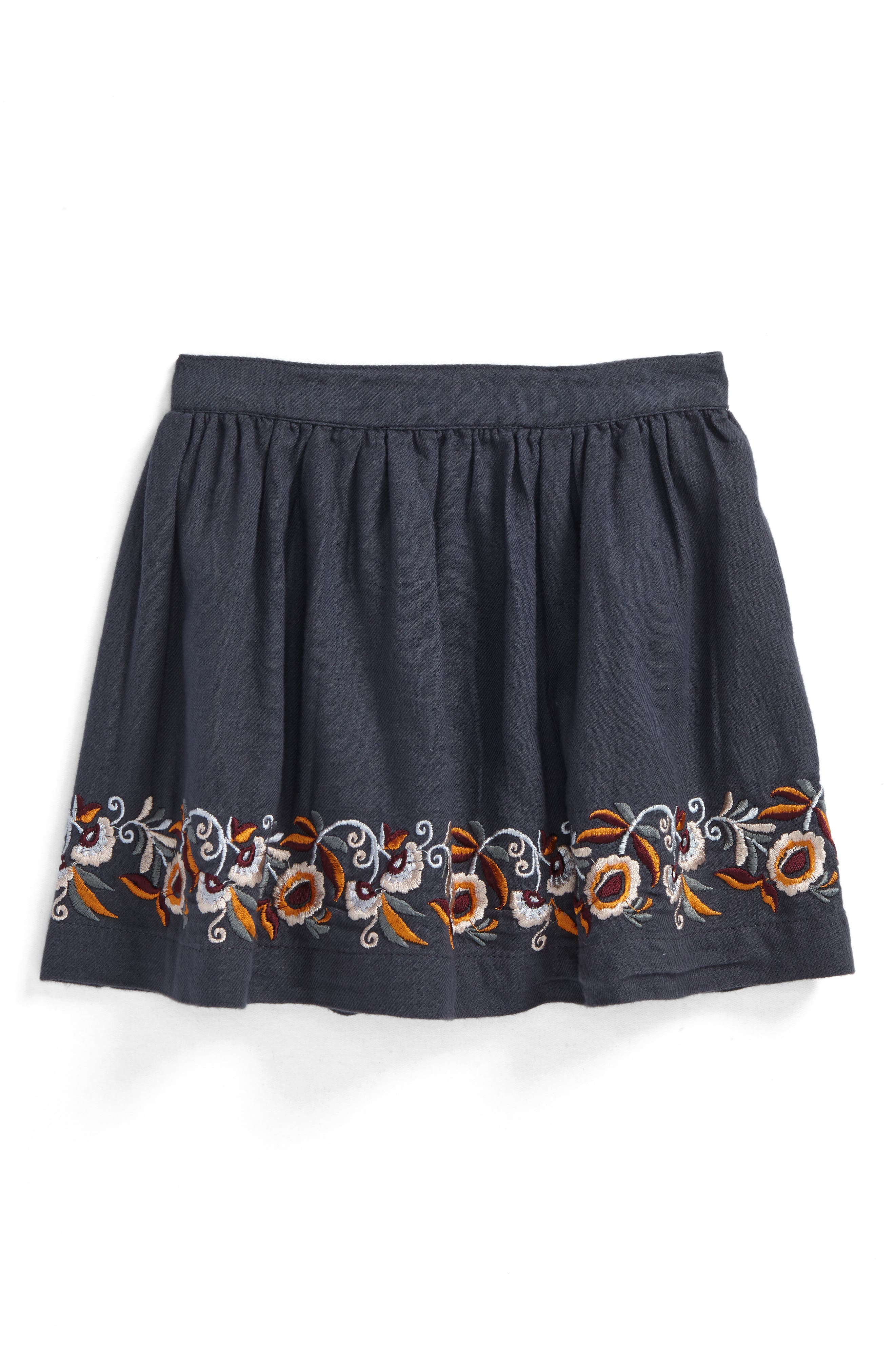 Claire Embroidered Skirt,                             Main thumbnail 1, color,                             021