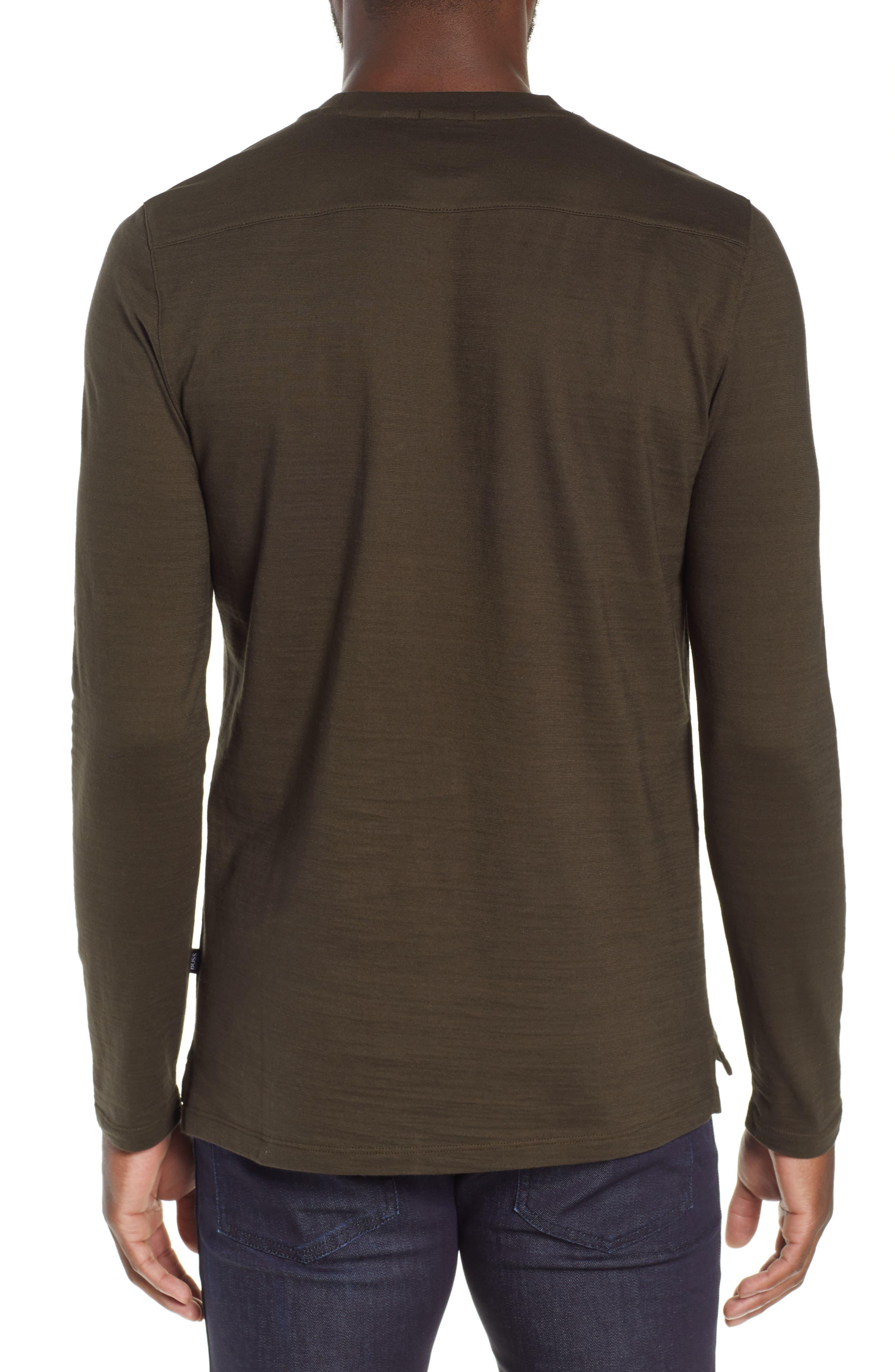 Tenison Long Sleeve Crewneck T-Shirt,                             Alternate thumbnail 2, color,                             DARK GREEN