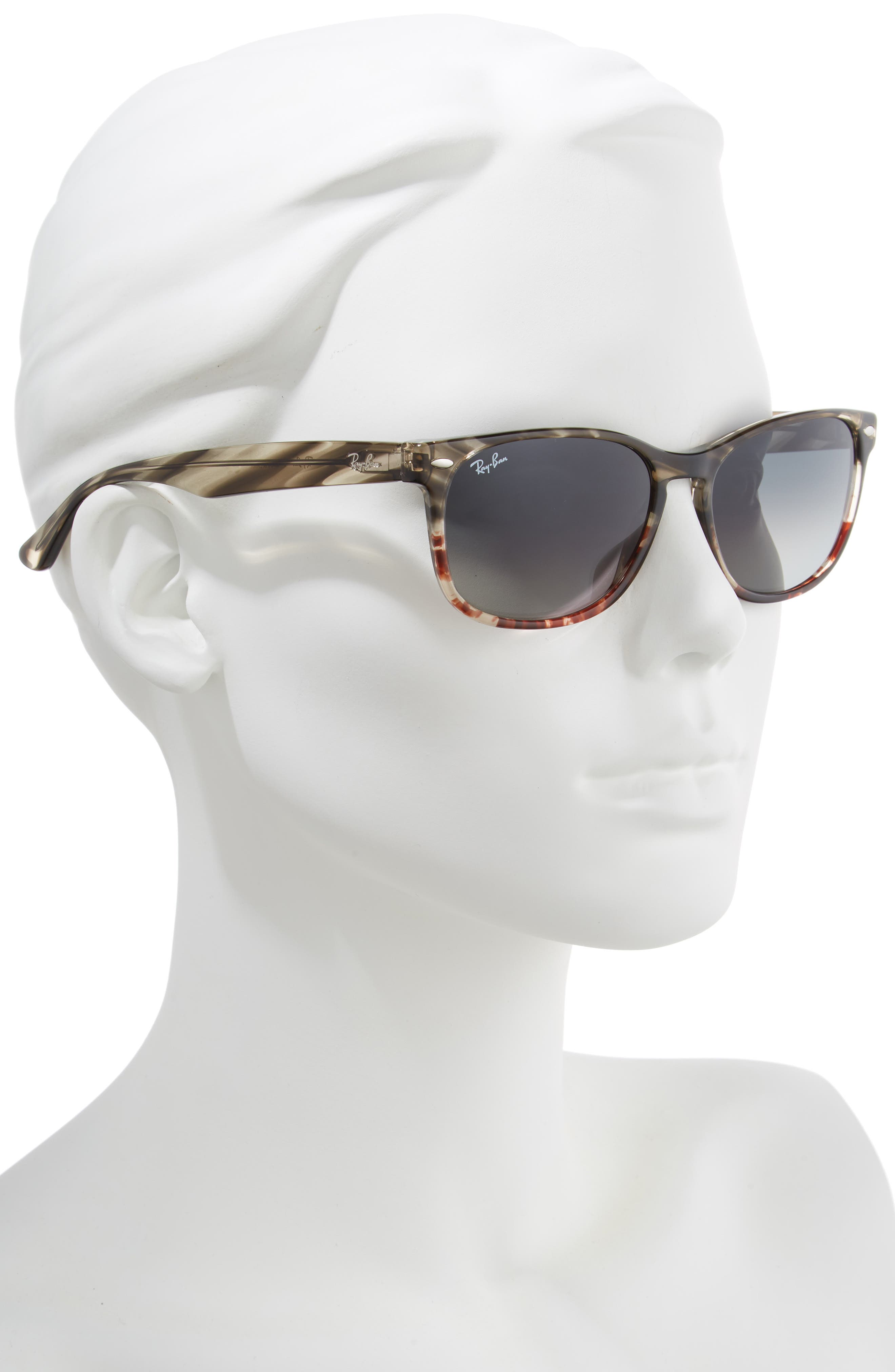 RAY-BAN,                             Highstreet 57mm Square Sunglasses,                             Alternate thumbnail 2, color,                             BROWN/ GREY GRADIENT