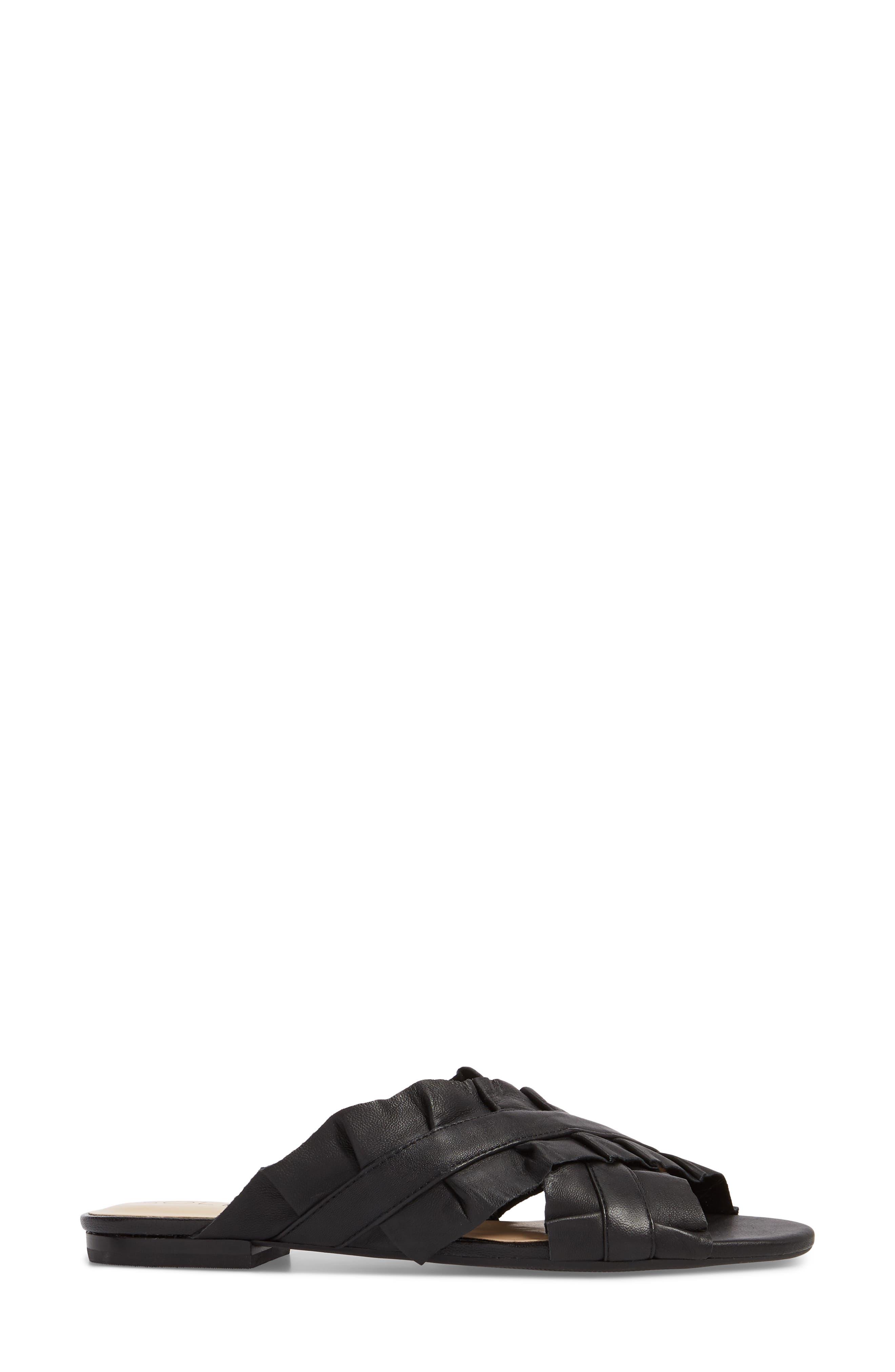 SOLE SOCIETY,                             Mandi Slide Sandal,                             Alternate thumbnail 3, color,                             BLACK