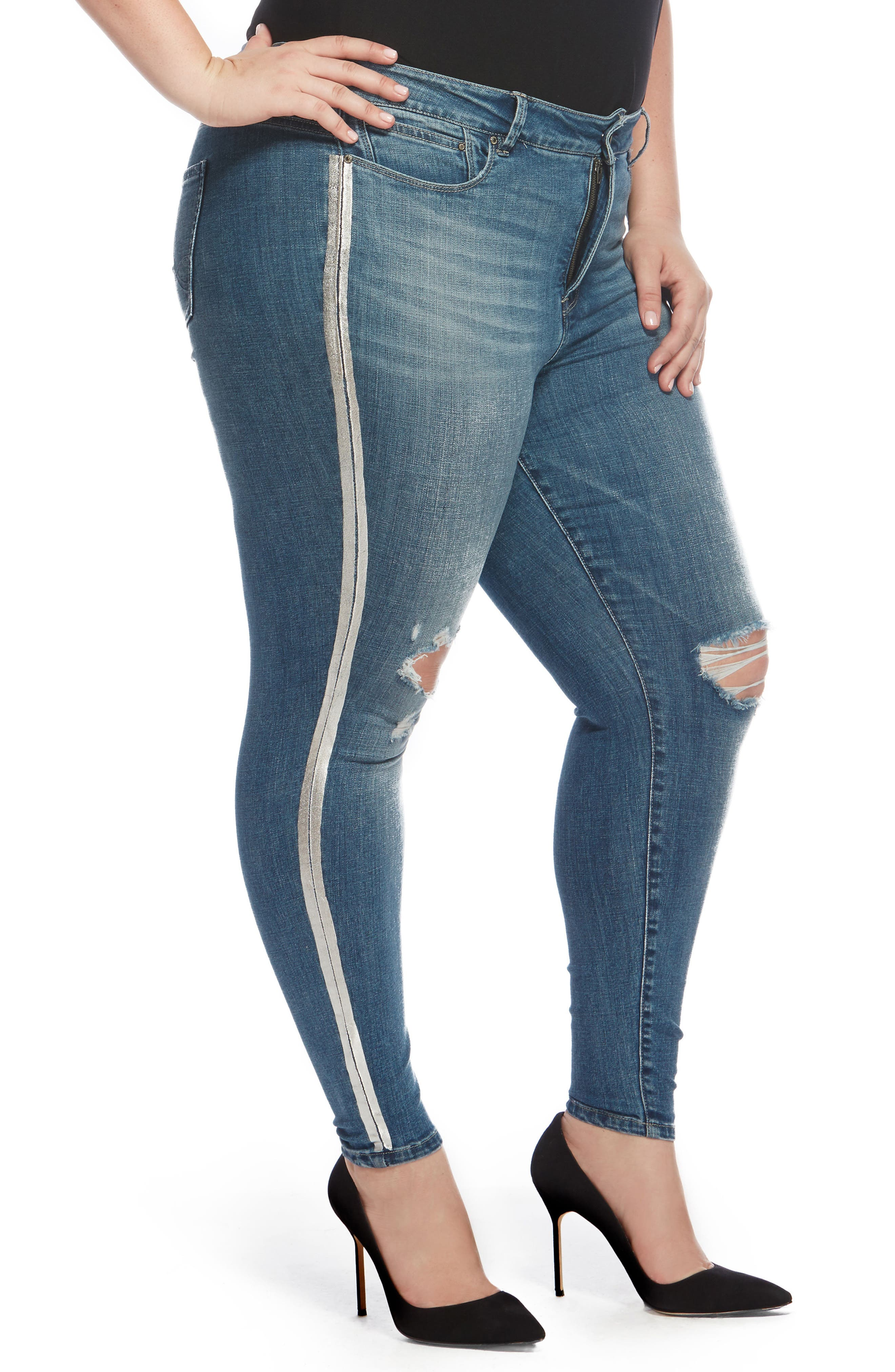 The Pin Up Ripped Ankle Jeans,                             Main thumbnail 2, color,