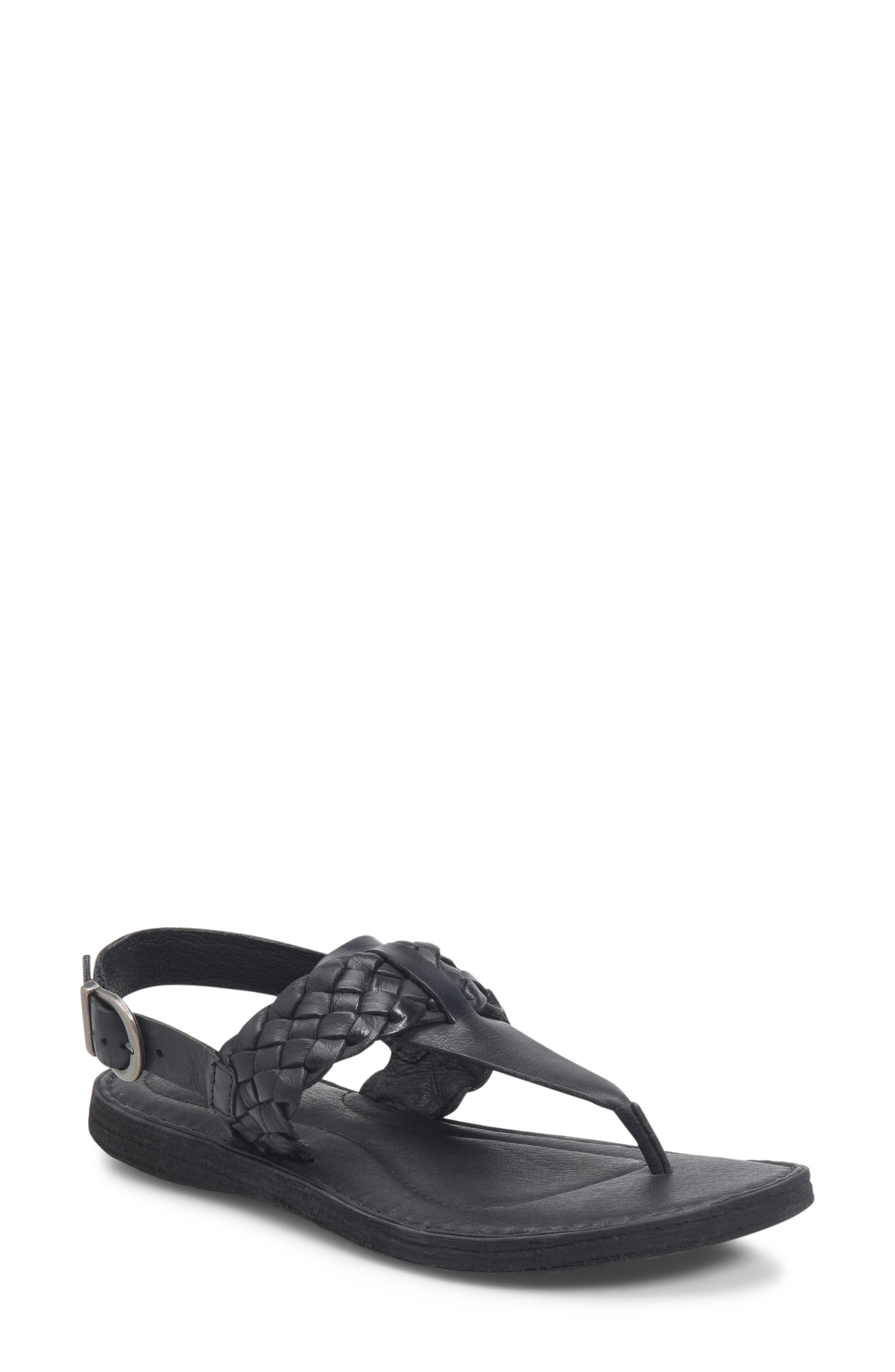 B?rn Sumter Braided Sandal, Black