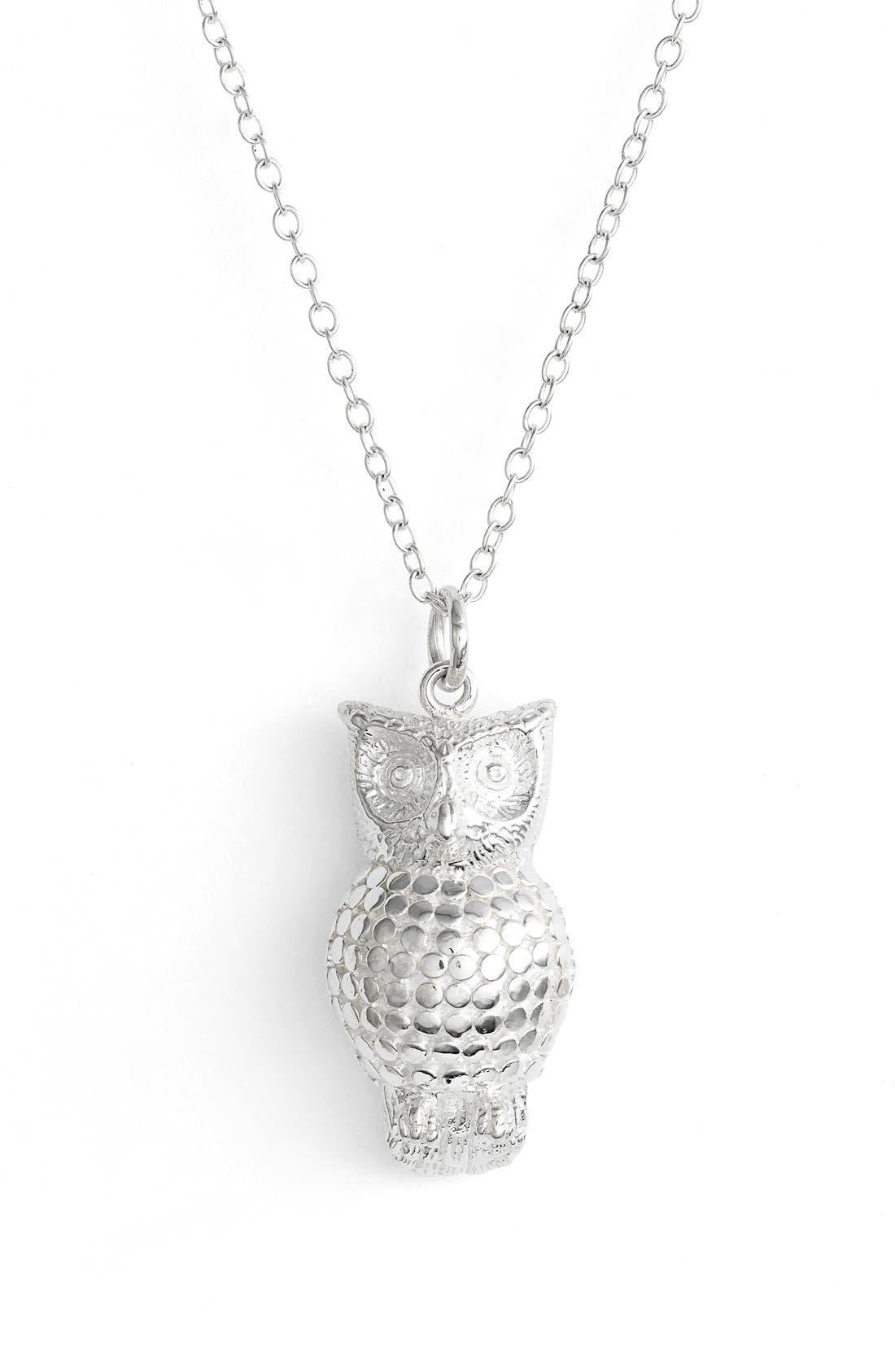 'Animals' Long Owl Pendant Necklace,                             Main thumbnail 1, color,                             040